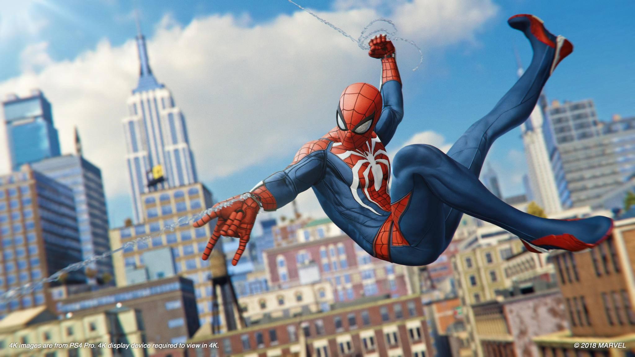 """""""Marvel's Spider-Man"""" lässt ab September die Netze fliegen."""