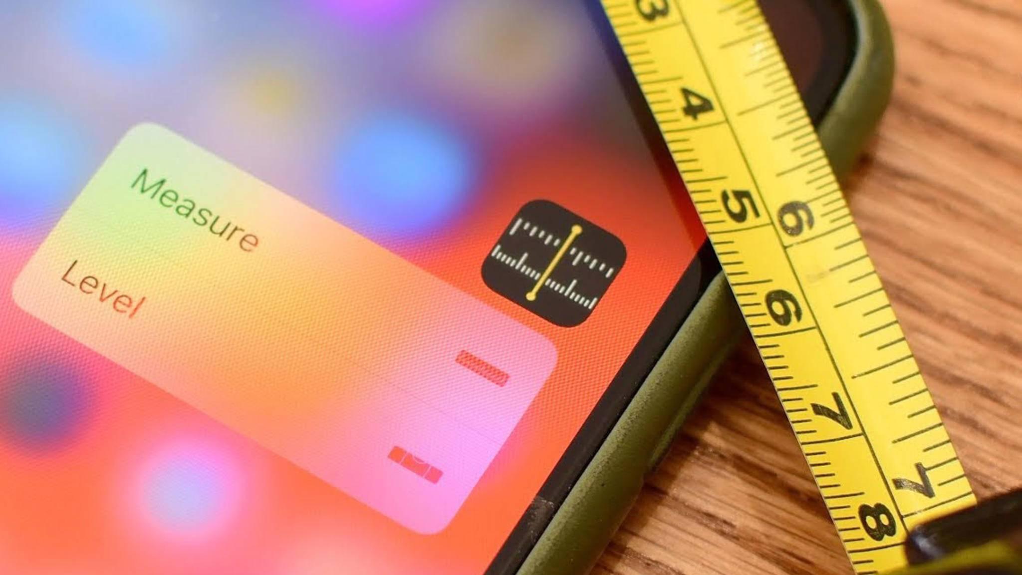 Mit der Messen-App wird das Maßband digital.