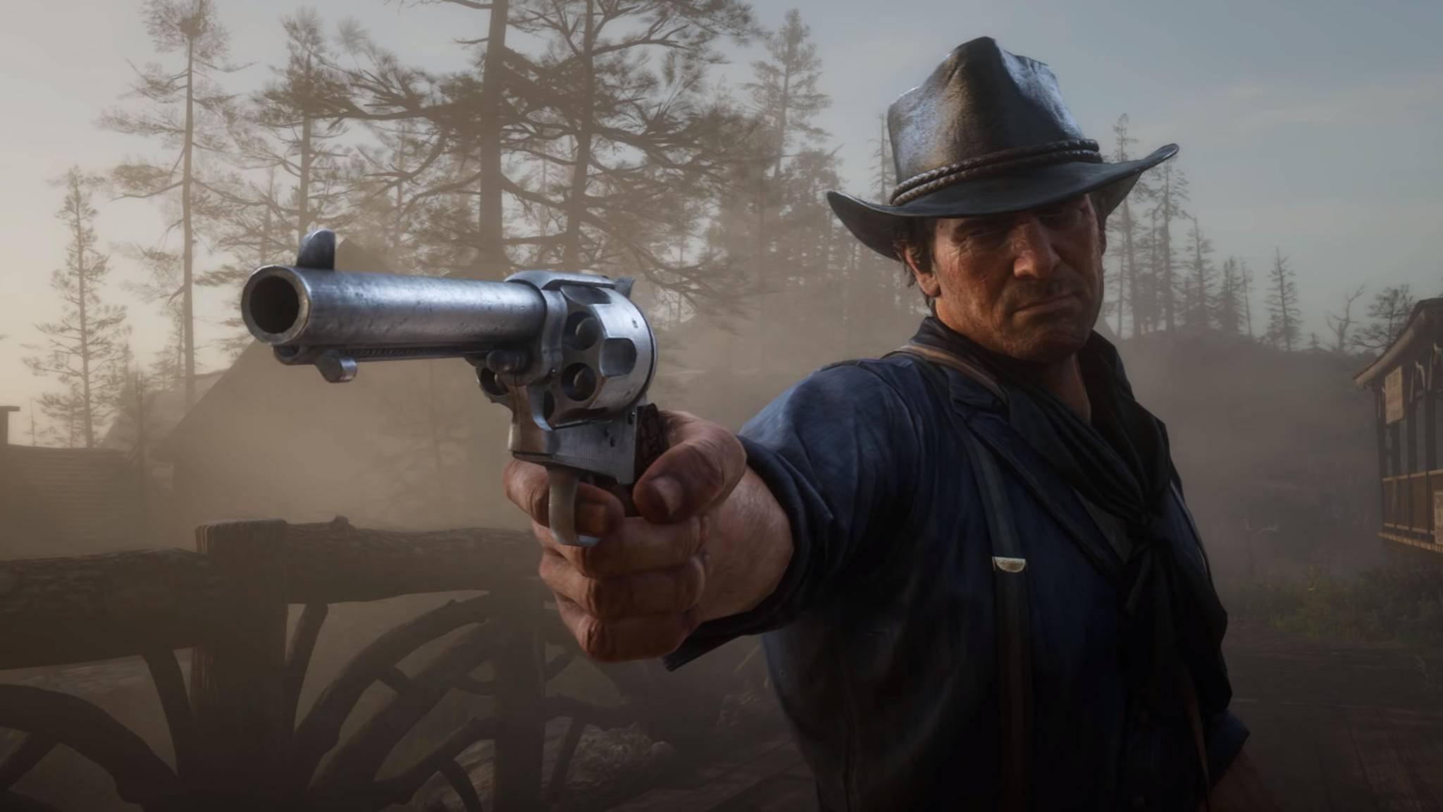 """Adlerauge mit nervösem Zeigefinger: Arthur Morgan schießt in """"Red Dead Redemption 2"""" scharf und genau."""
