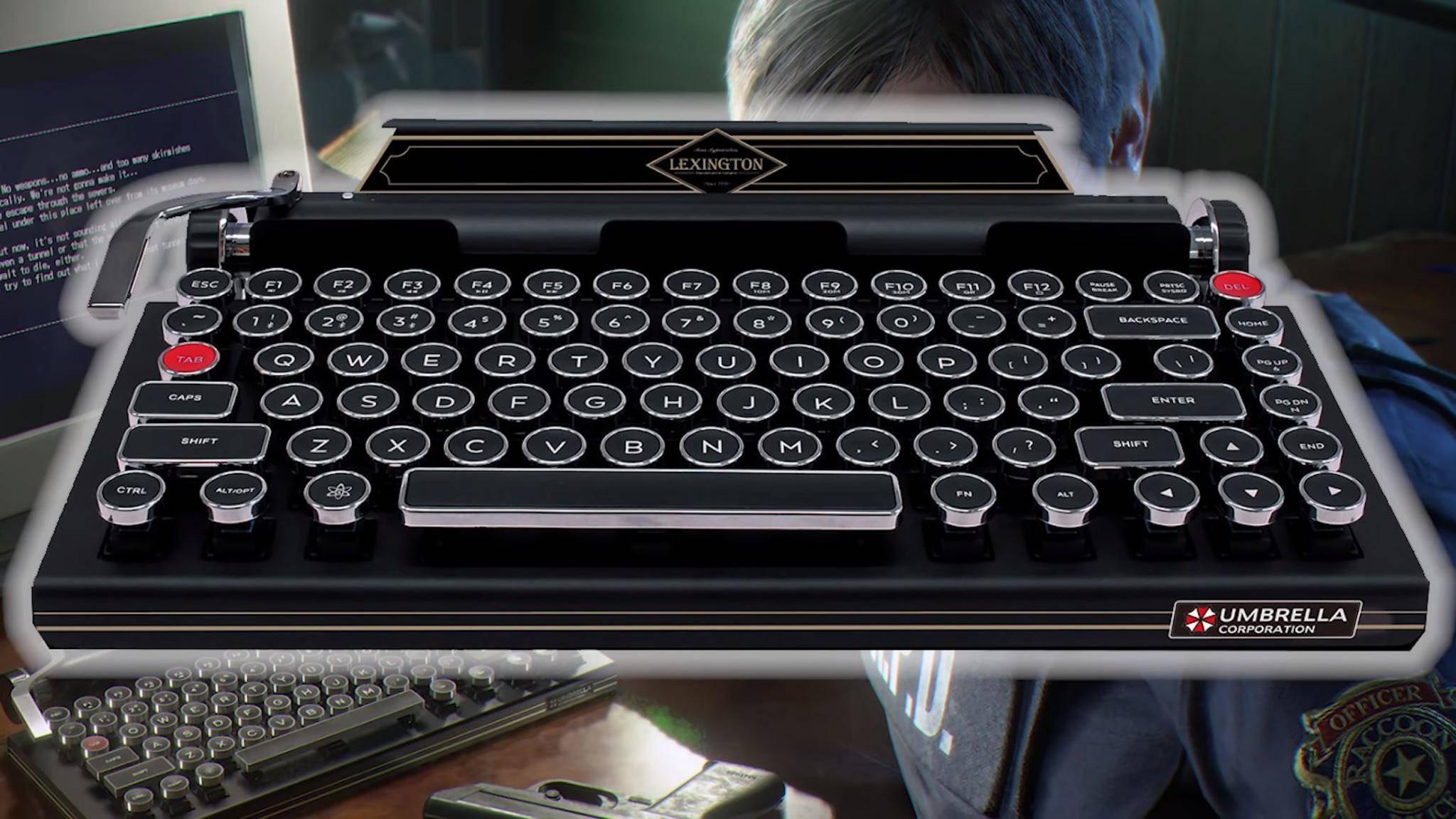 """So sieht die Tastatur im """"Resident Evil 2""""-Design aus."""