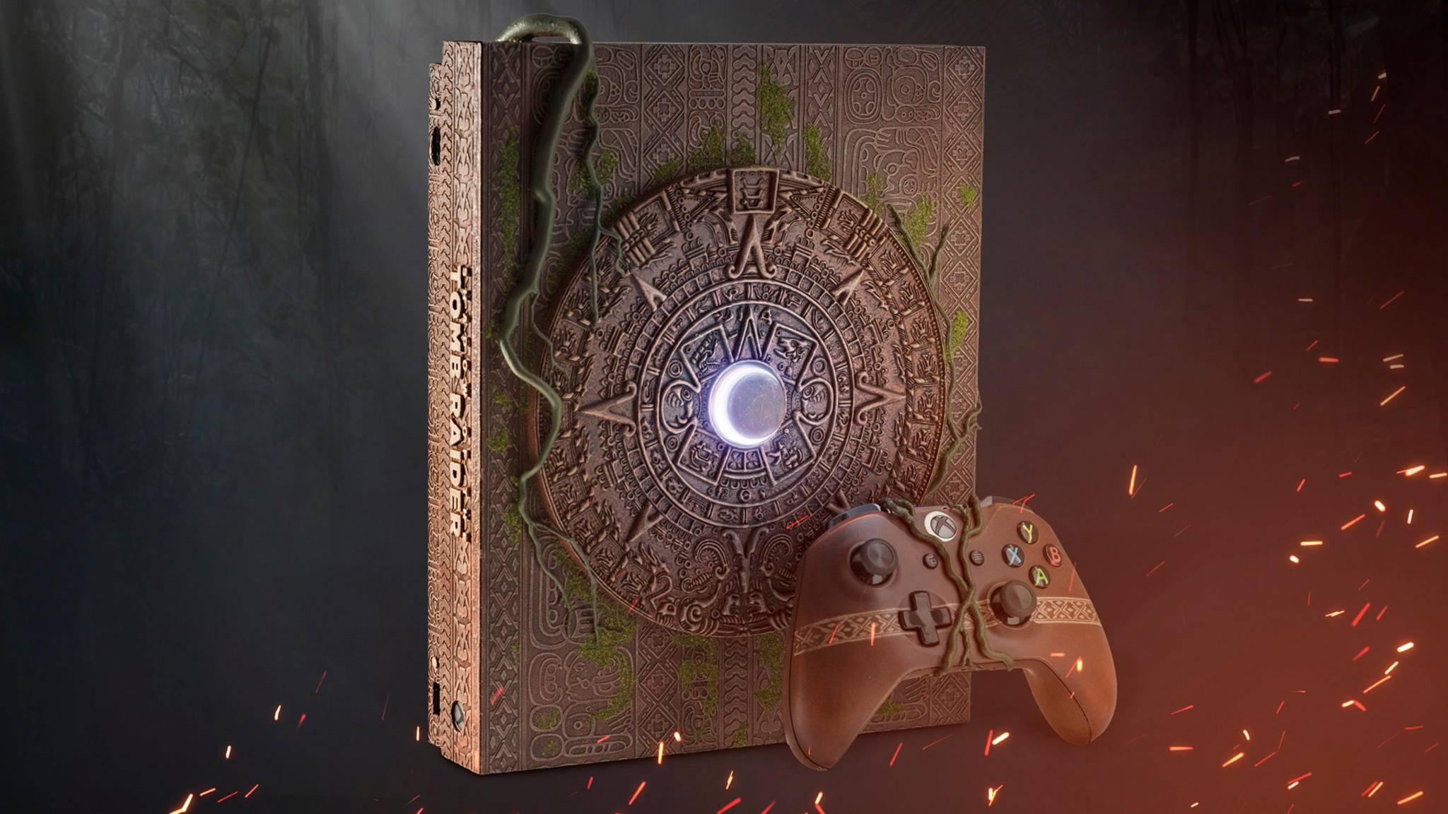 Löst vermutlich eher nicht die Apokalypse aus, macht sich aber gut unterm Fernseher: die exklusive Xbox One X im Maya-Design.