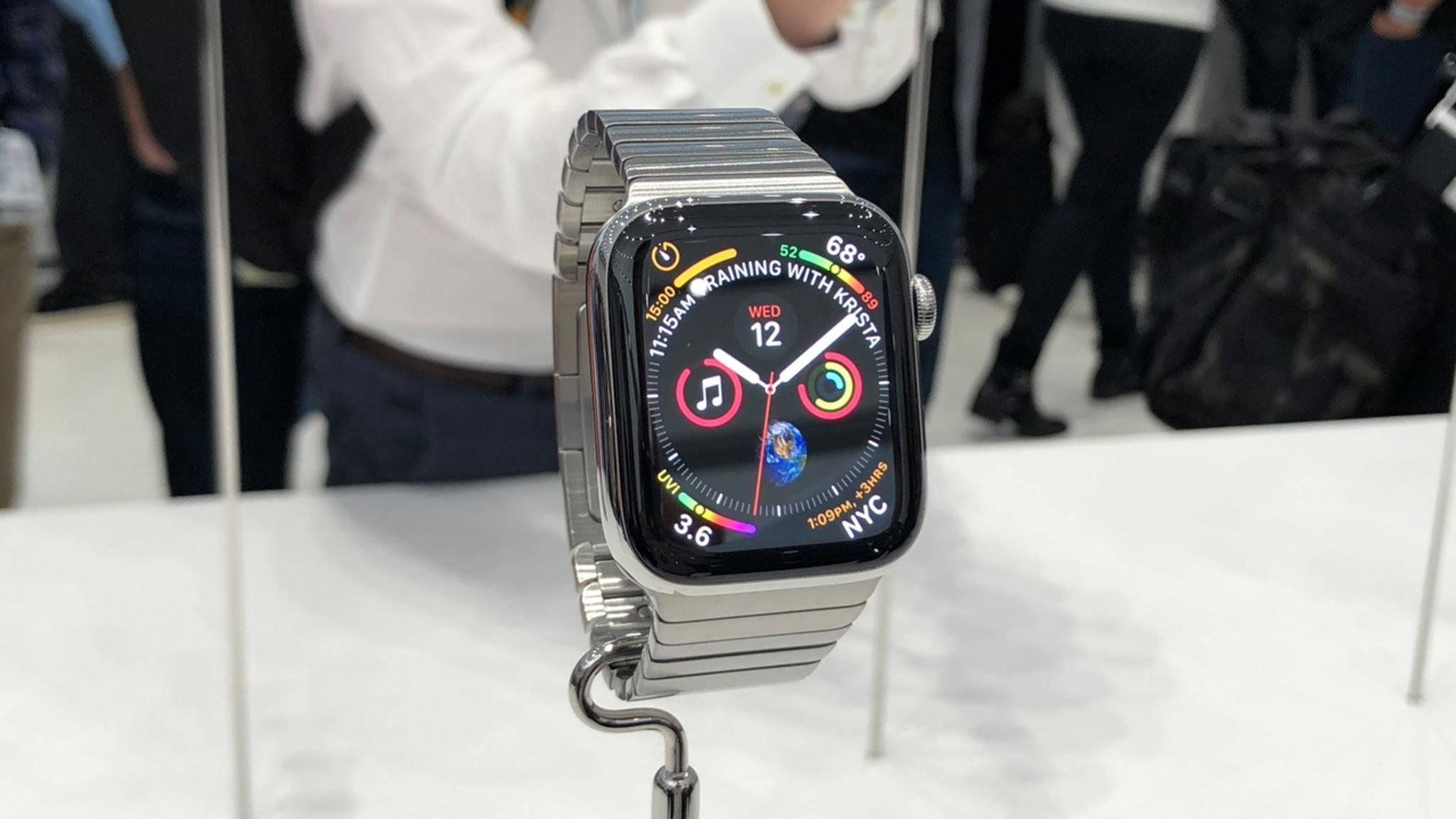 Das war knapp: Die Zertifizierung für das EKG-Feature erhielt die Apple Watch erst kurz vor dem Launch.