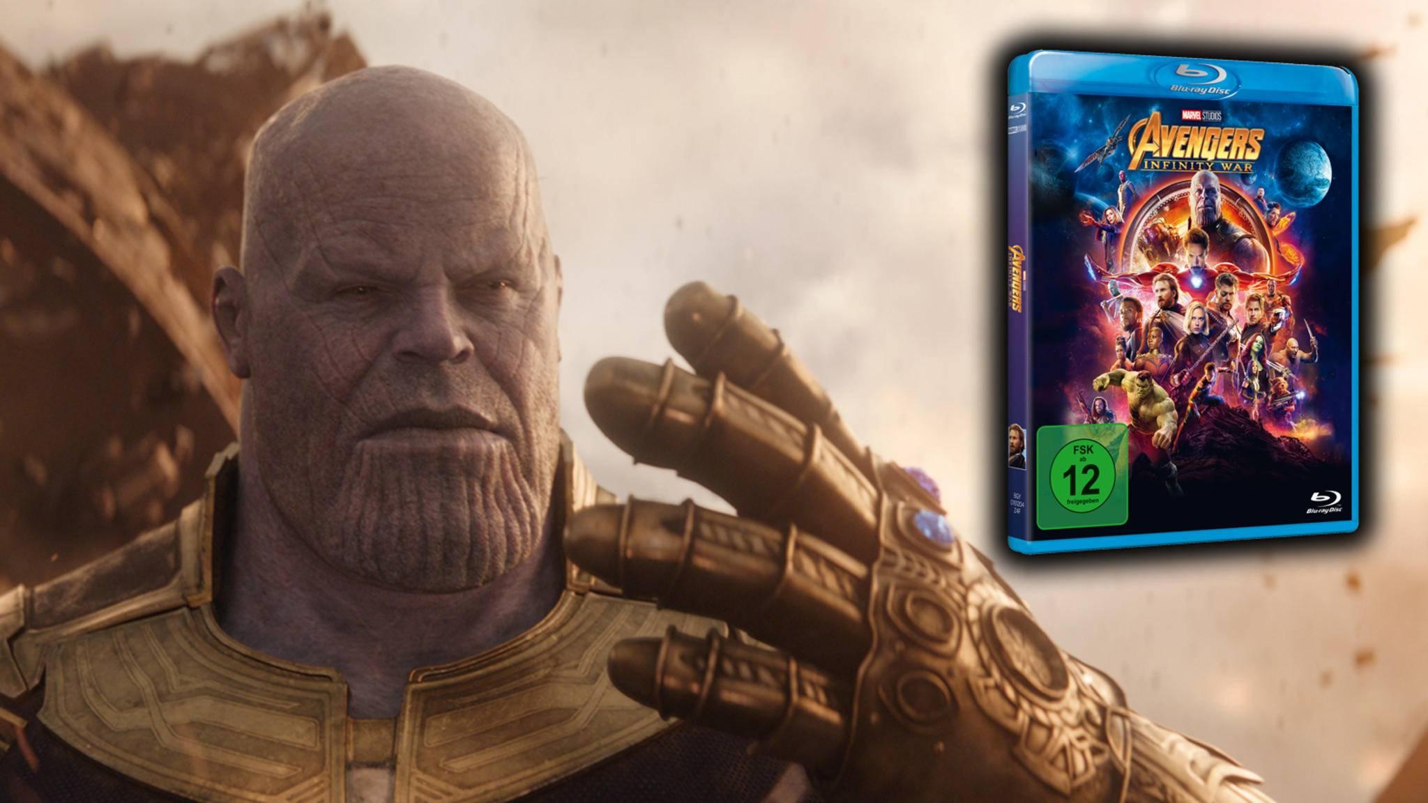 """Ende April traten """"Earth's Mightiest Heroes"""" auf der Leinwand gegen Thanos an, jetzt erobert der """"Mad Titan"""" auch die Heimkino-Regale."""