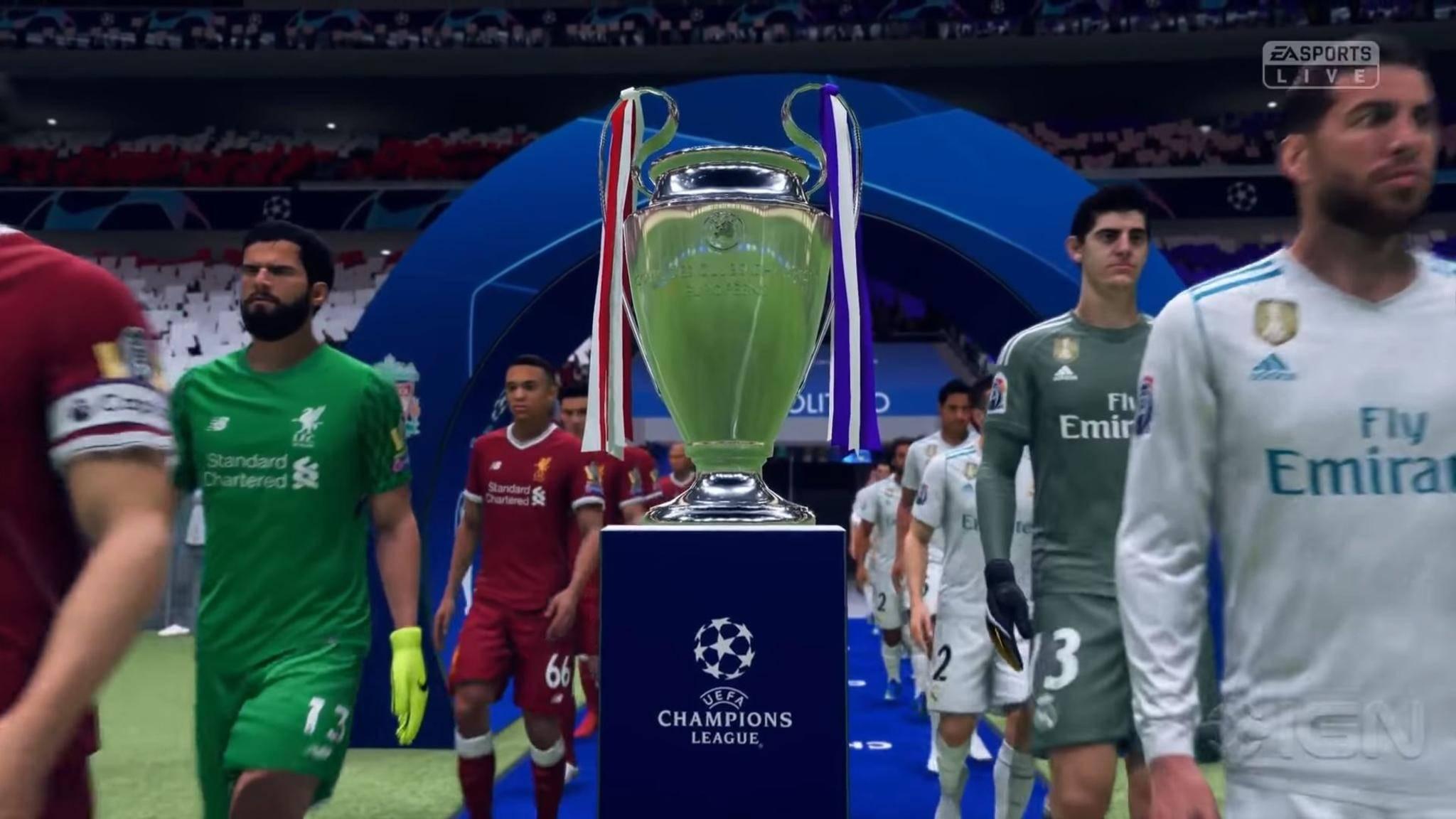 """Anstoß für """"FIFA 19"""": In der Demo kann erstmals ein Match in der UEFA Champions League bestritten werden."""