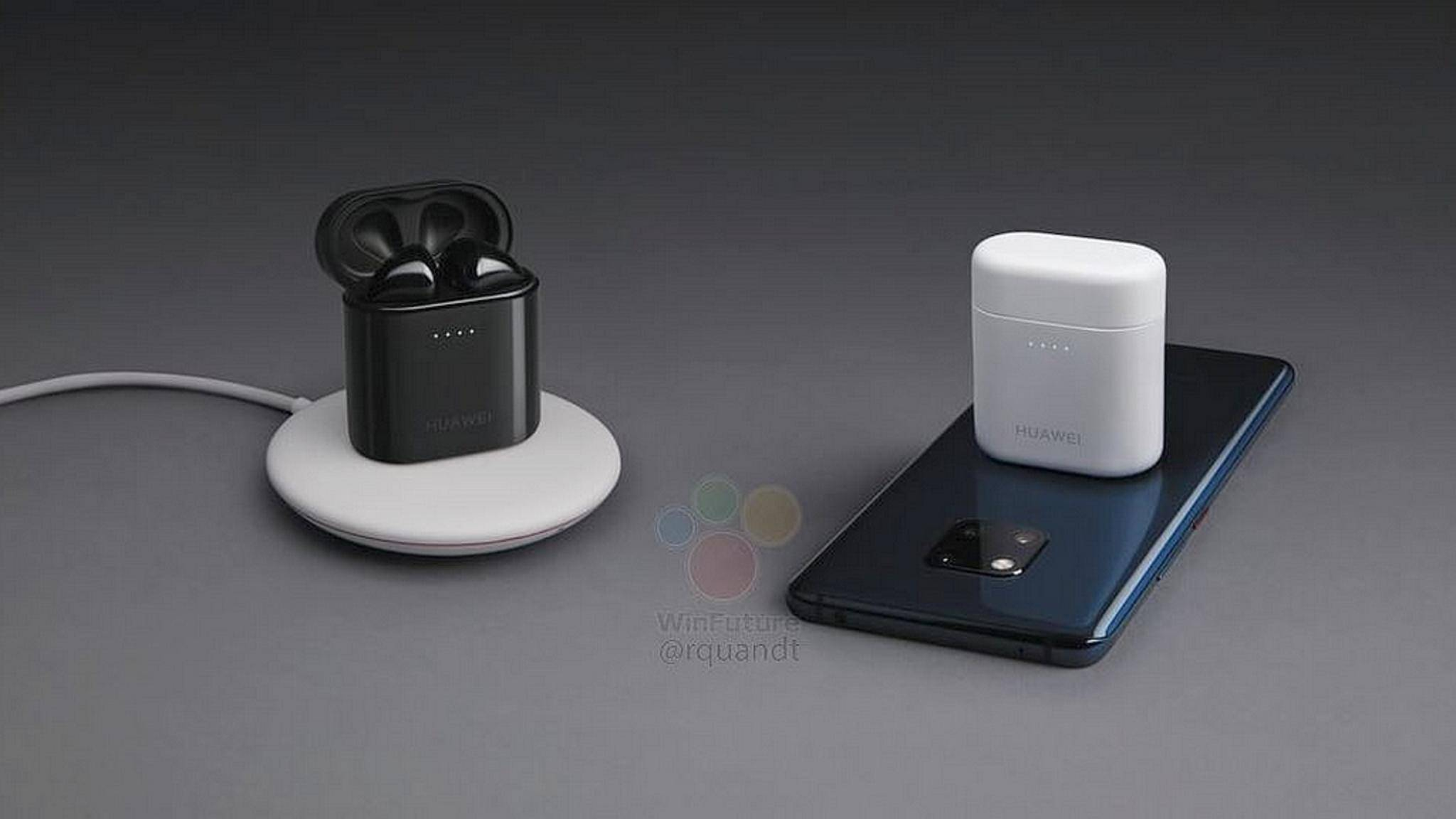 Die Huawei Freebuds 2 Pro lassen sich kabellos mit dem Smartphone aufladen.