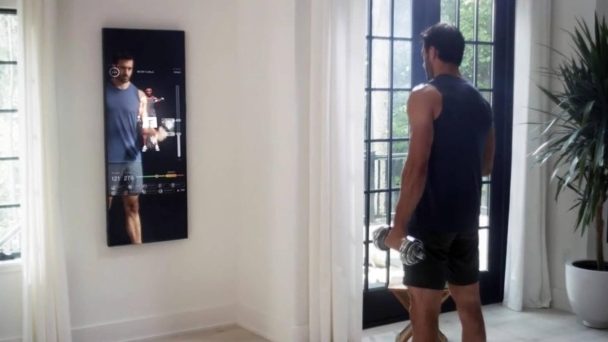 Mit The Mirror holst Du Dir den Fitness-Trainer auf den Spiegel.