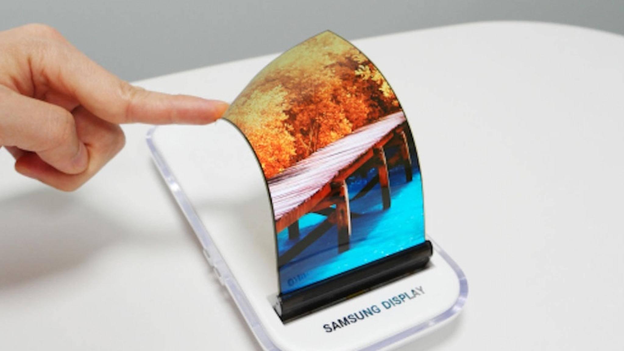 Samsung hat sich noch nicht für einen Faltmechanismus entschieden.