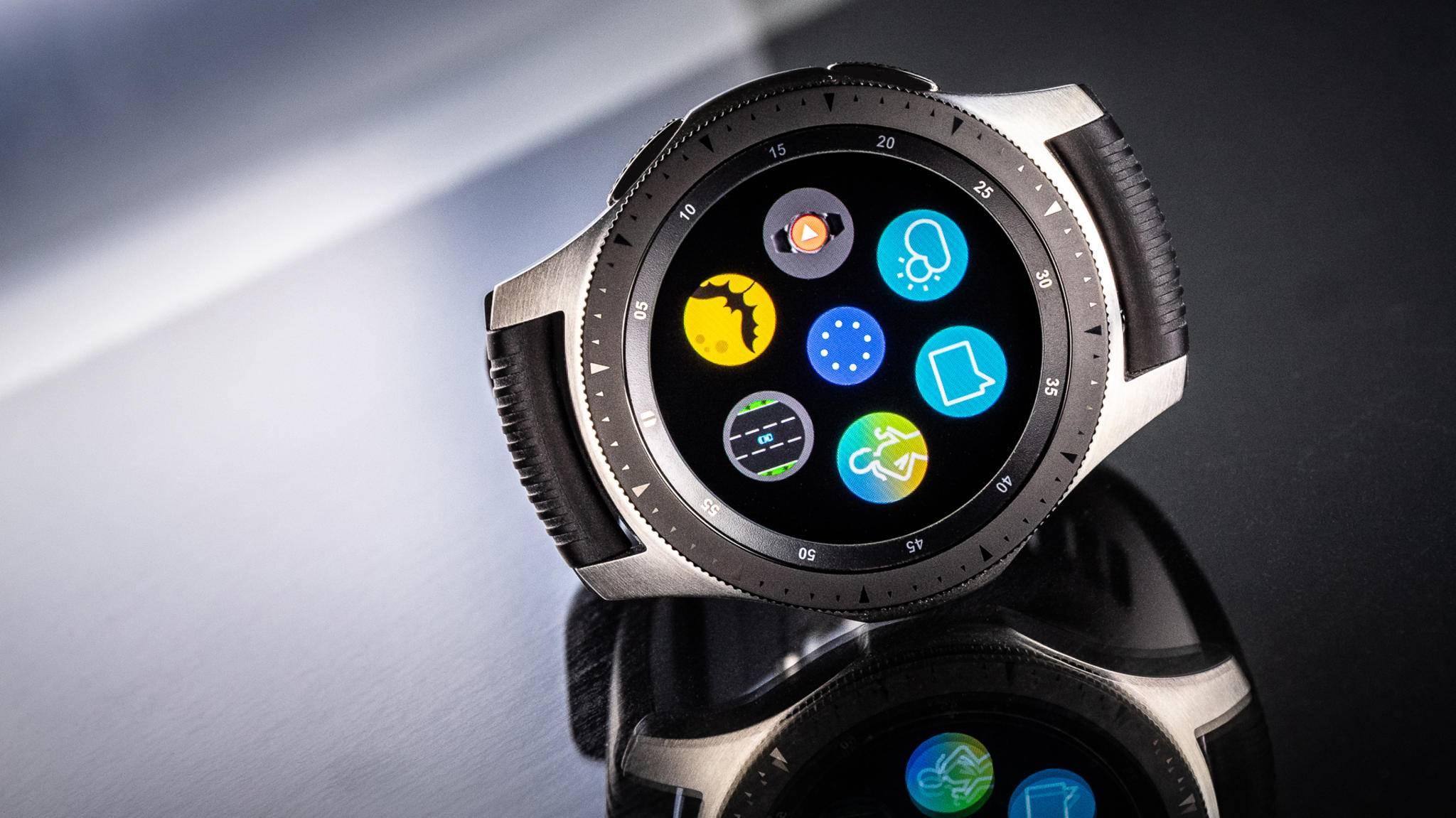 Back to the roots: Die Galaxy Watch 3 soll wie die Galaxy Watch (hier im Bild) über eine drehbare Lünette verfügen.