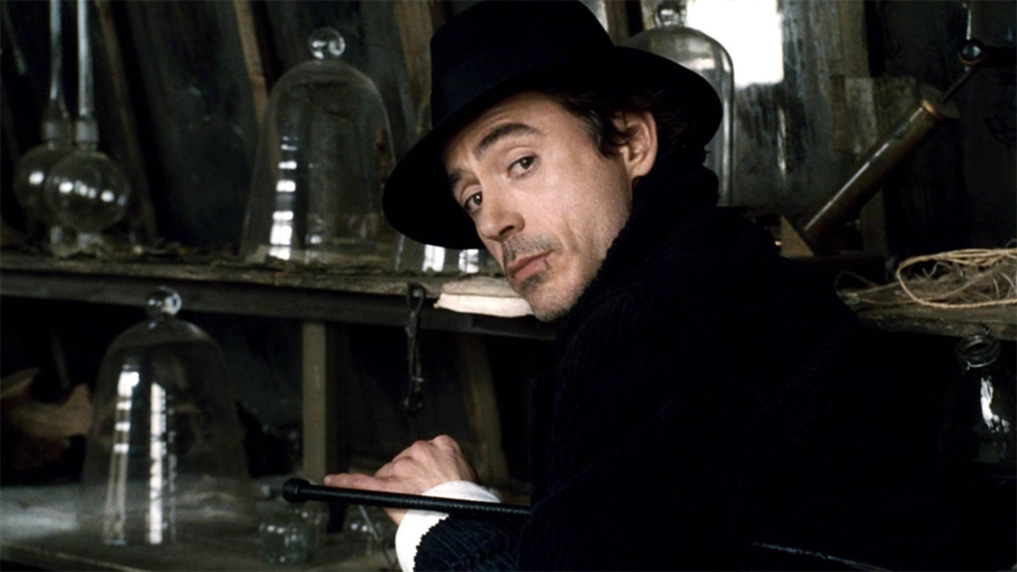 Sherlock Holmes (hier: Robert Downey Jr.) ist der Held einiger Detektivfilme.
