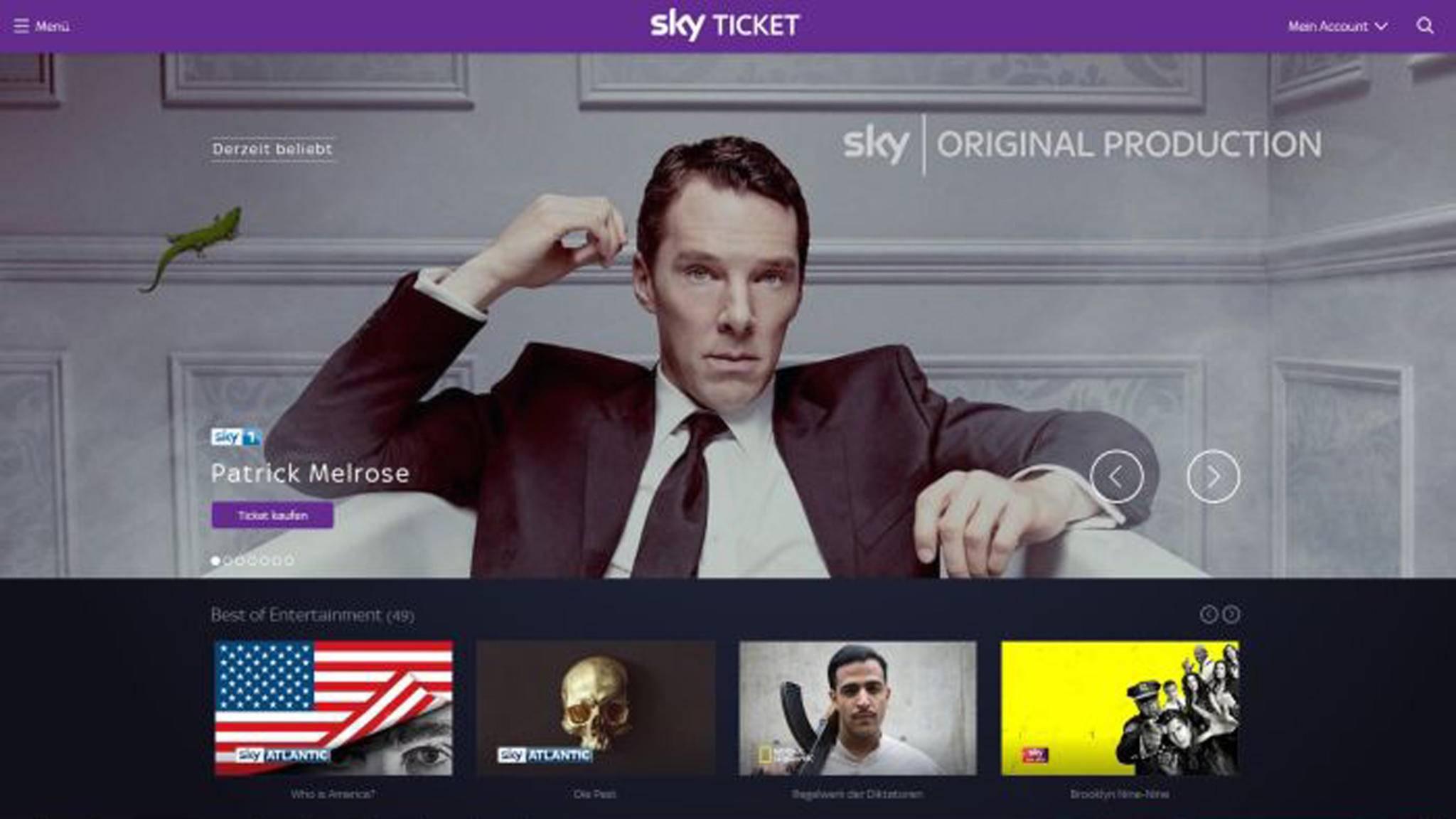 Mit Sky Ticket hast Du Zugriff auf zahlreiche Serien im Angebot.