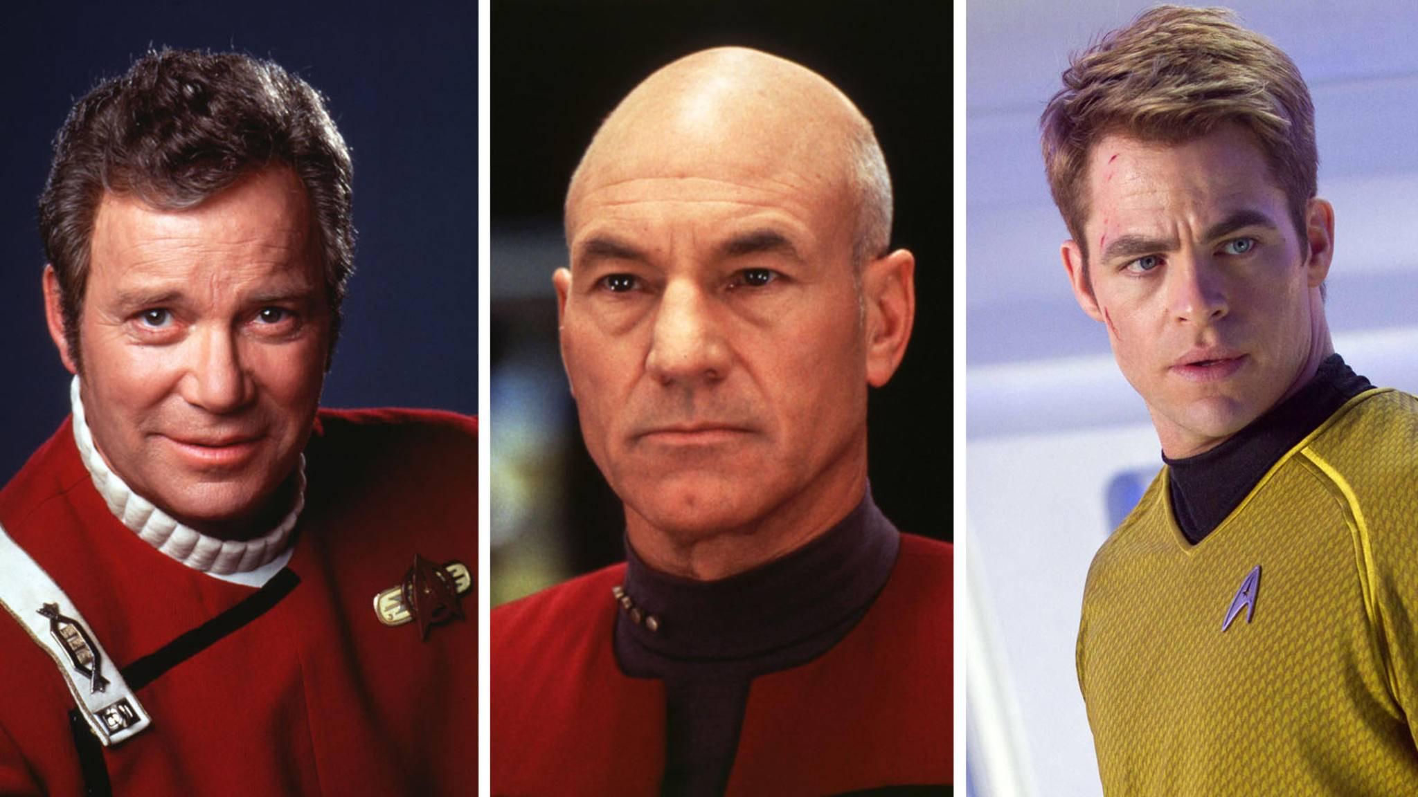 Star trek-William Shatner-picture alliance-United Archives-85934020-Star Trek-Jean-Luc Picard-picture alliance-United Archives-85933950-Star Trek-James T. Kirk-picture alliance-Everett Collection