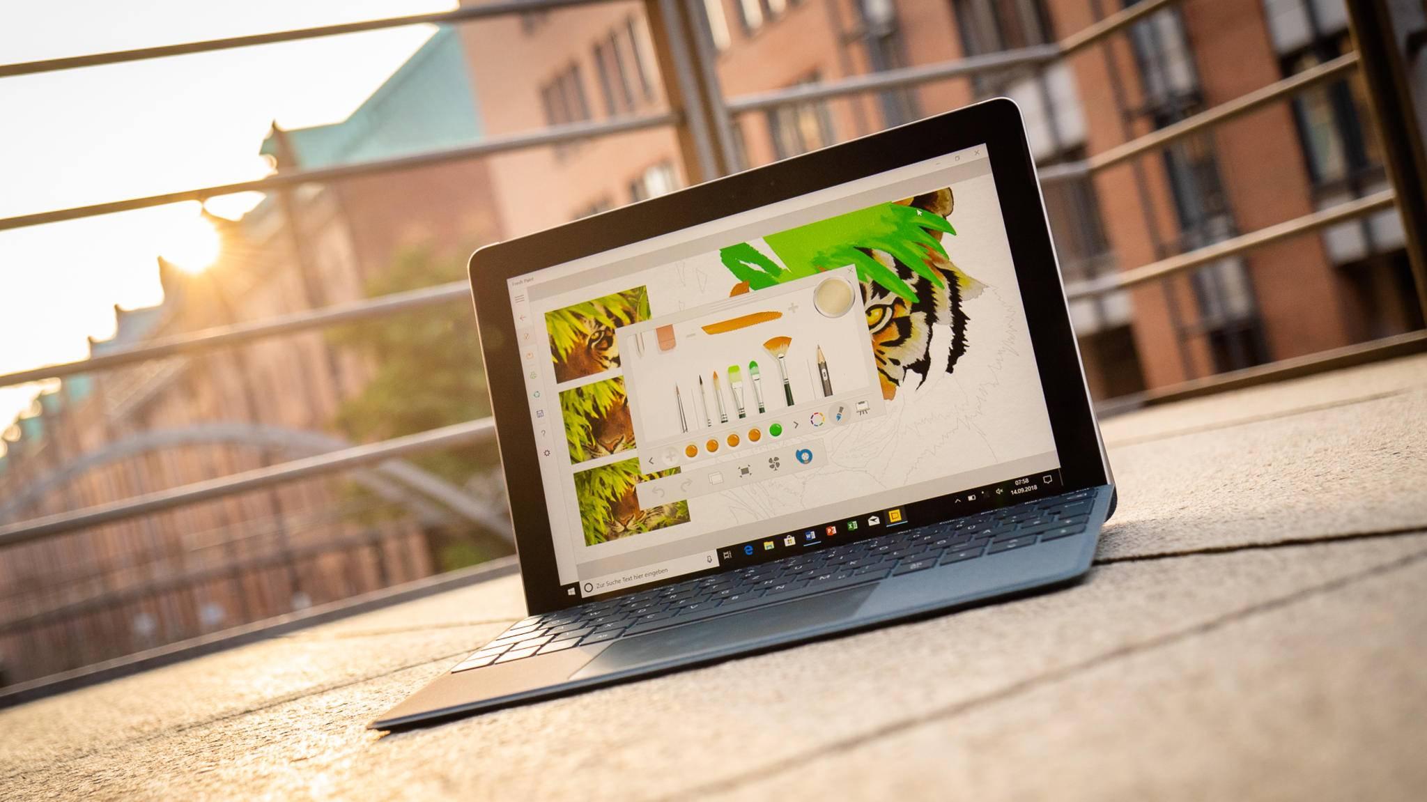 Tablets wie das Surface Go liefern schnelle 4G-Geschwindigkeit.