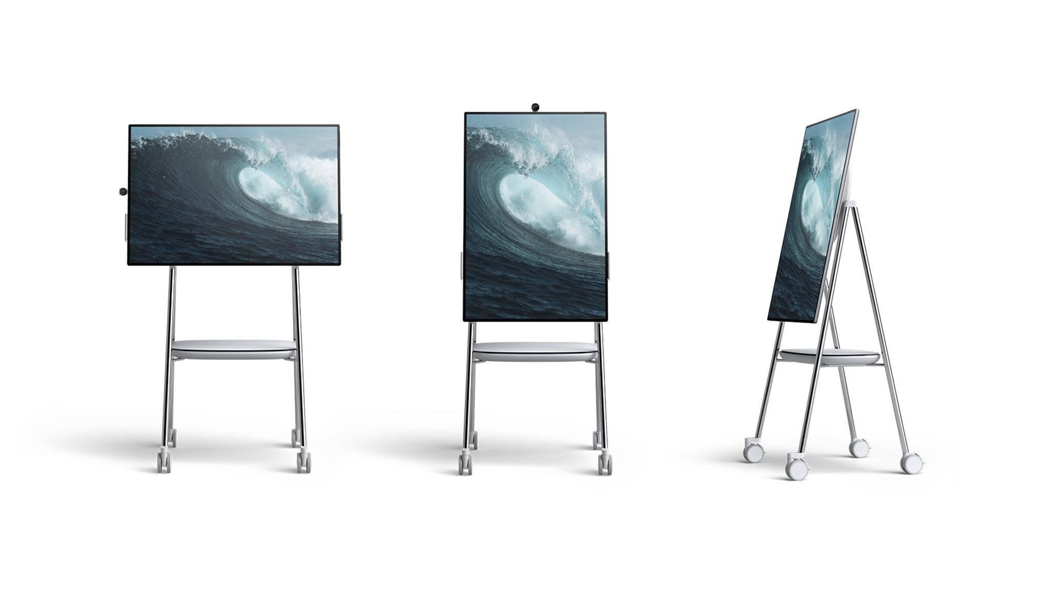 Der 50 Zoll große Surface Hub 2 ist für die Teamarbeit in Büros ausgelegt.