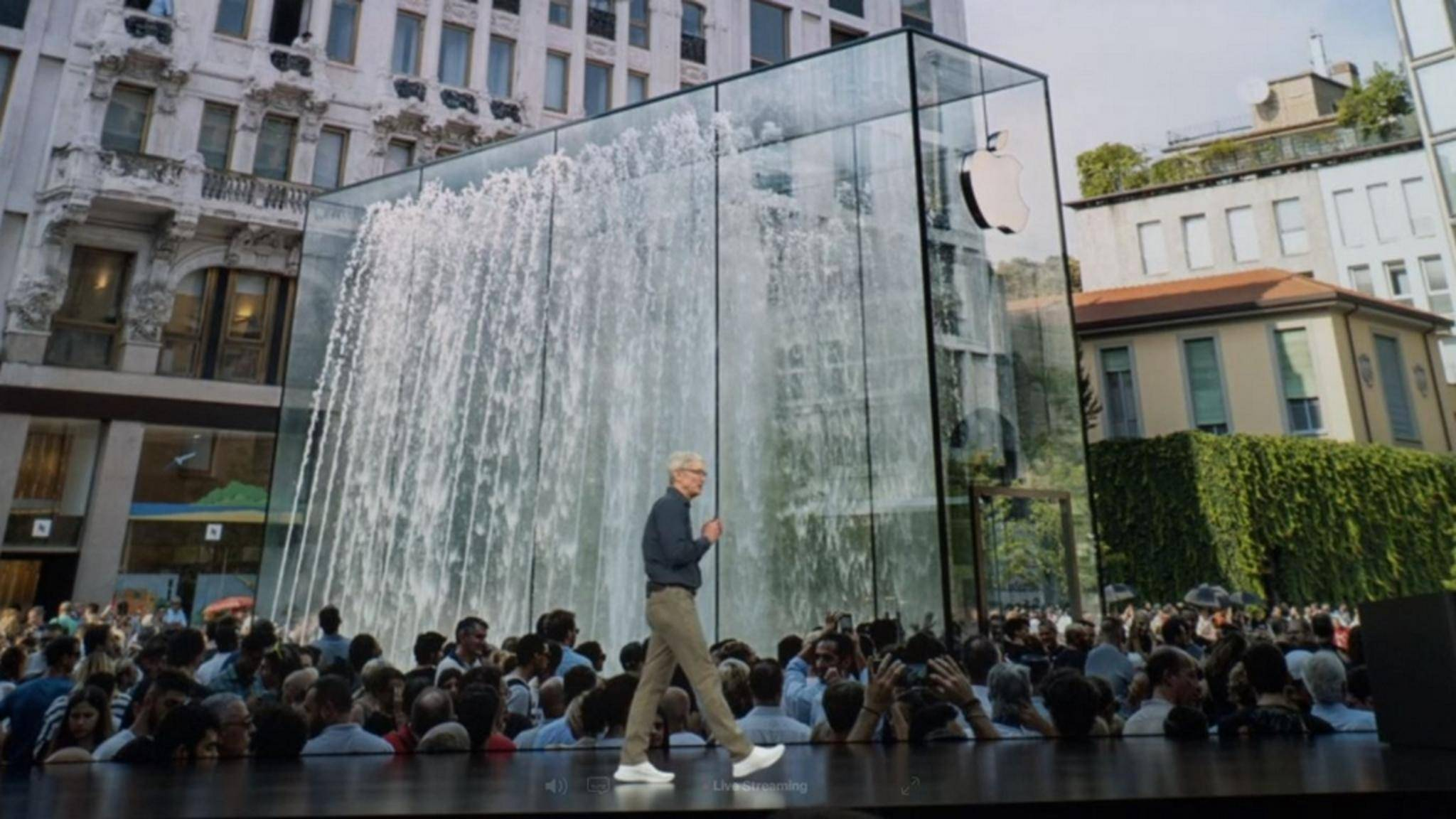 Apple-Chef Tim Cook blickt sehr optimistisch in die Zukunft.