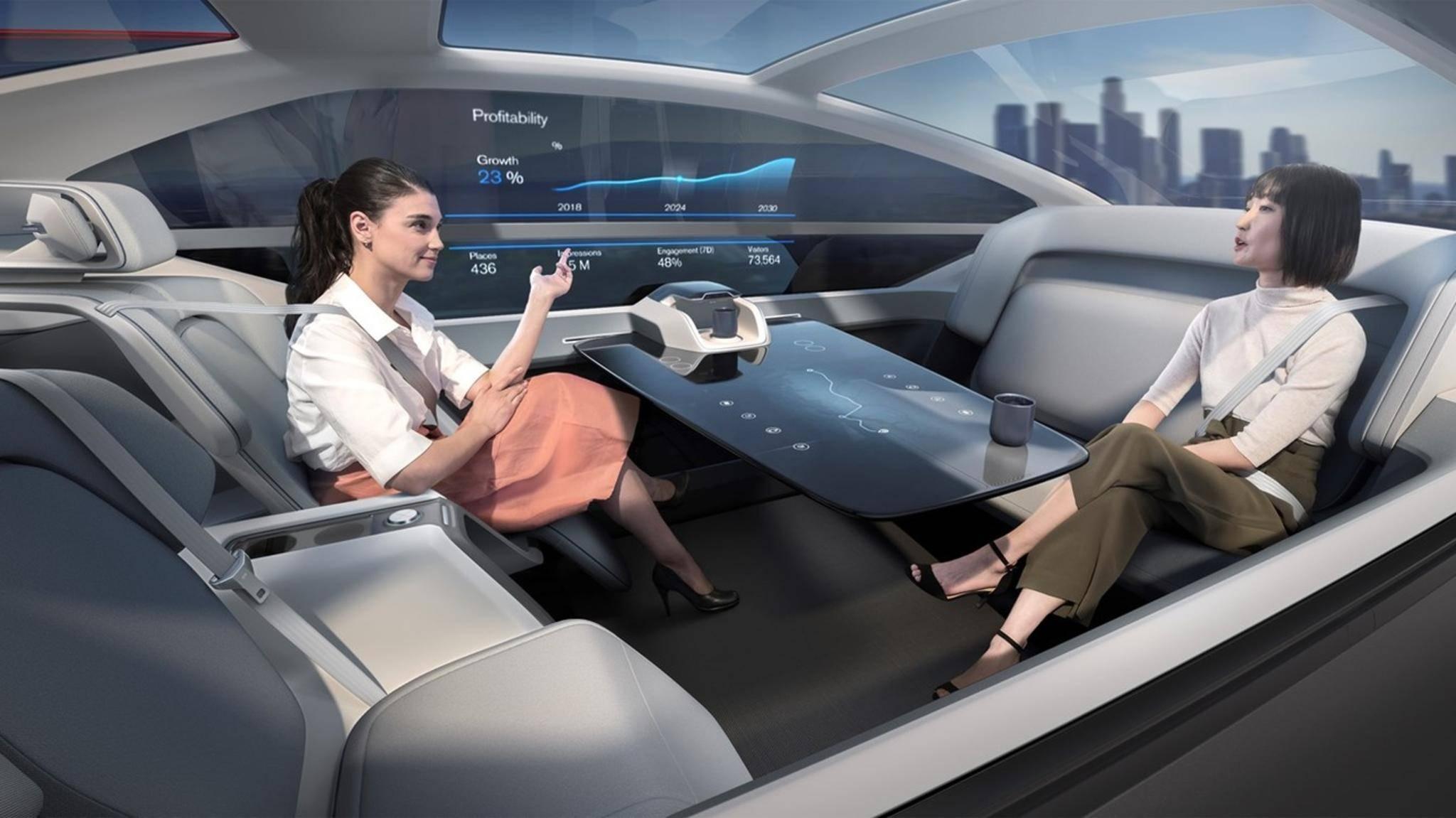 Volvos Konzeptauto muss und kann nicht mehr von den Insassen gesteuert werden.