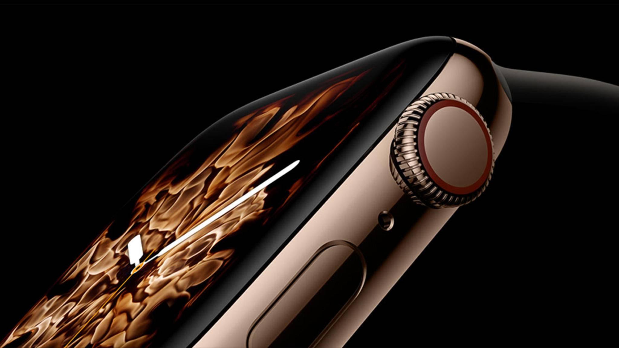 Die Digital Crown verfügt über haptisches Feedback – nur einer von vielen Punkten, in denen sich die neue Apple Watch von der Vorgängerversion unterscheidet.