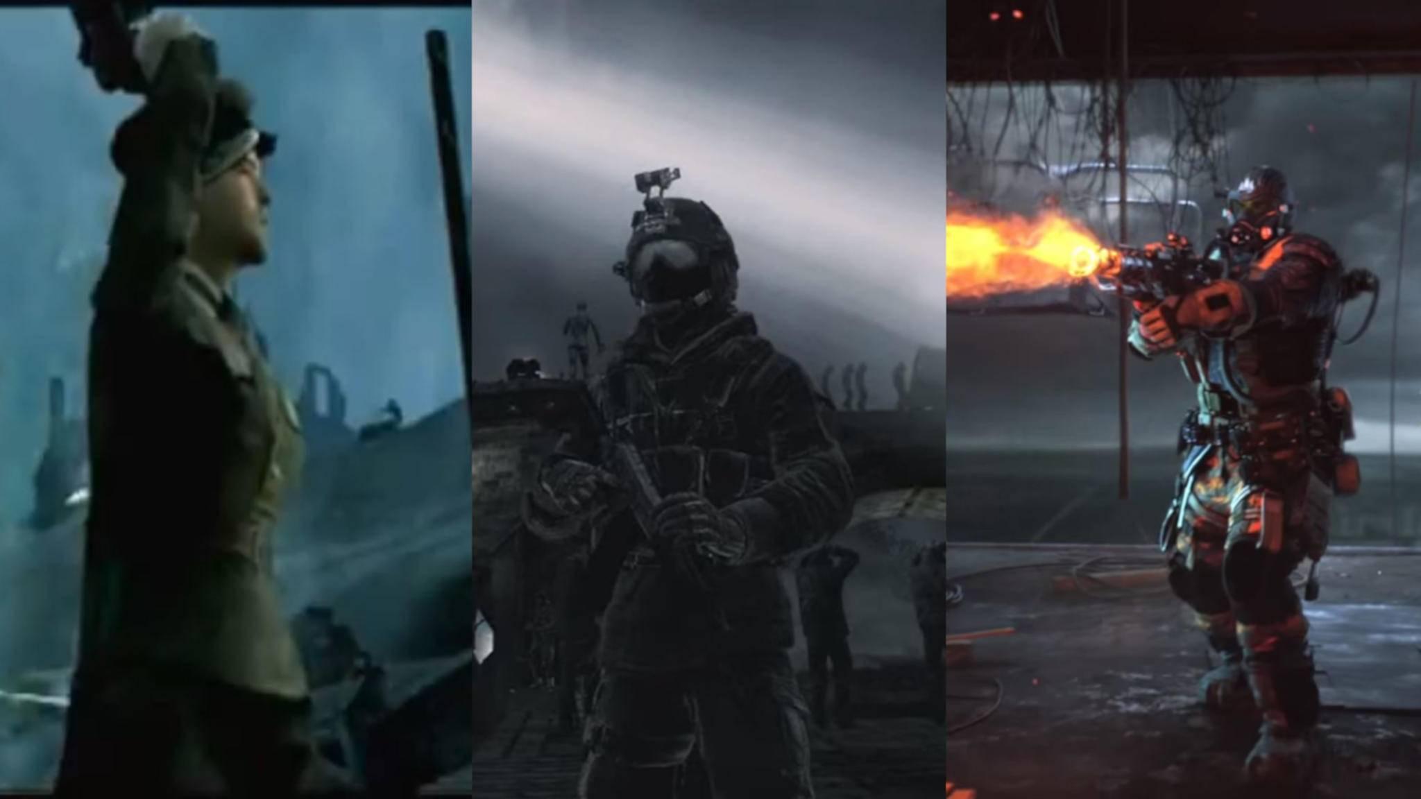 """Innerhalb von 16 Jahren hat sich in """"Call of Duty"""" einiges verändert."""
