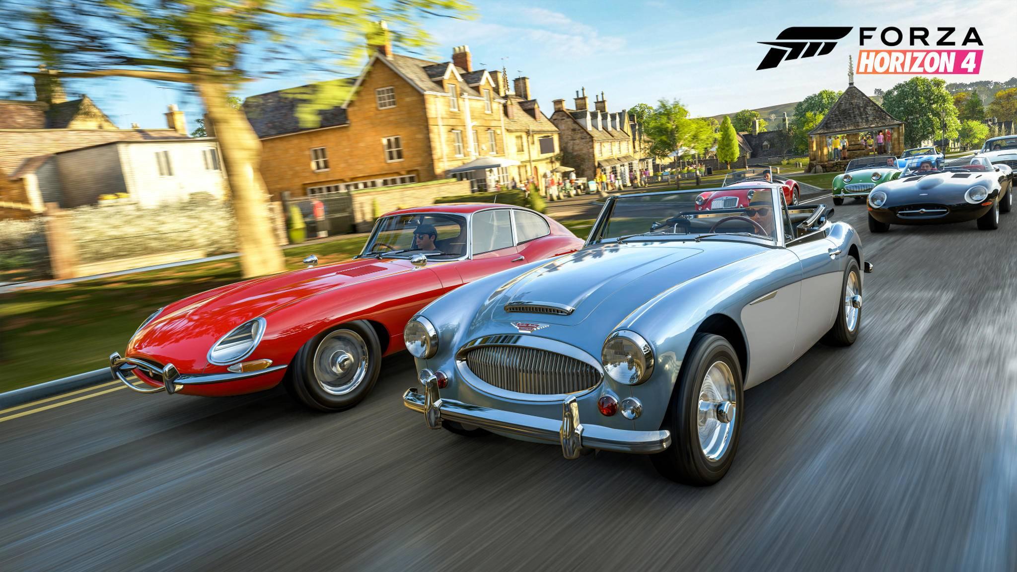 """Du willst das Feld in """"Forza Horizon 4"""" nur im Rückspiegel sehen? Dann schnapp Dir einen unserer Auto-Tipps!"""
