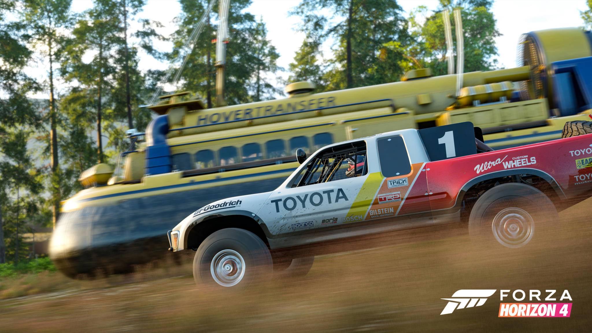 """Hovercrafts sind nicht die einzigen verrückten Fahrzeuge in """"Forza Horizon 4""""."""