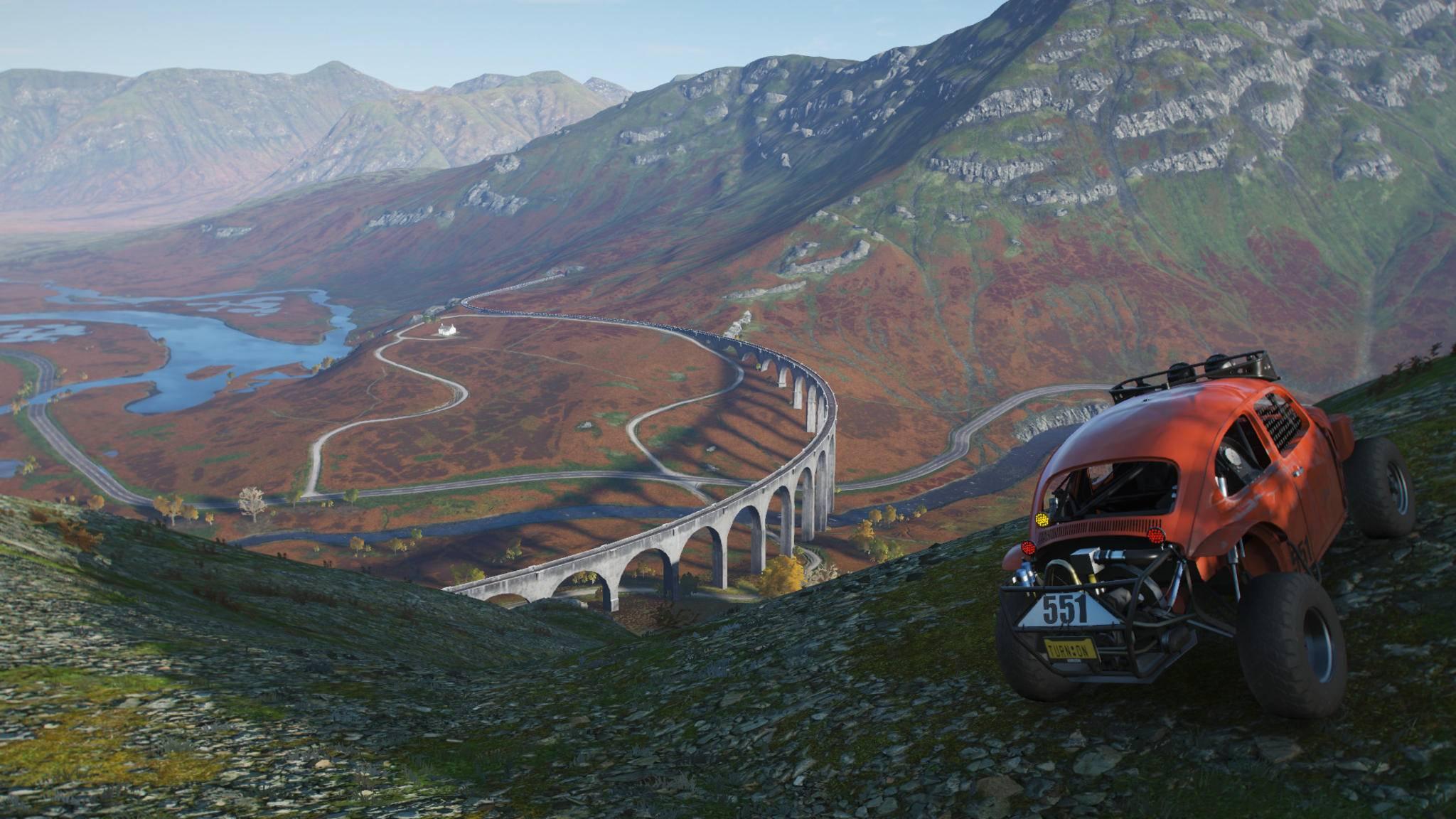 """""""Forza Horizon 4"""" baut eine wunderschöne Spielwelt und lässt seinen Spielern alle Freiheiten."""