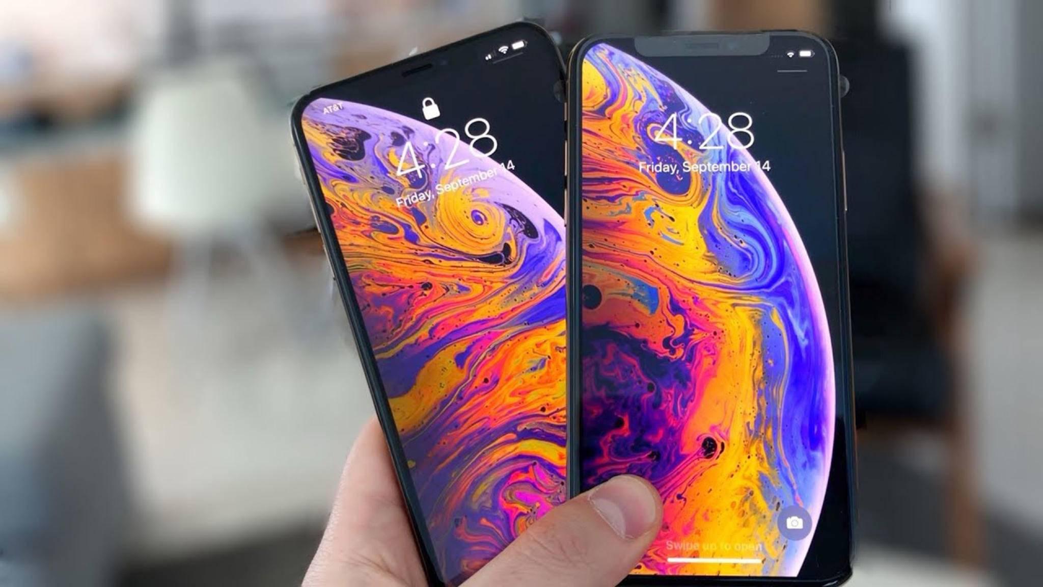 Haben derzeit das beste Smartphone-Display: Das iPhone XS und das iPhone XS Max.