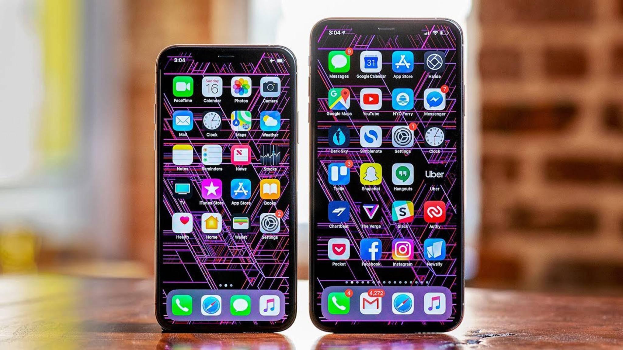 Das iPhone XS verfügt schon über ein OLED-Display. Zukünftig plant Apple komplett auf diese Bildschirm-Technologie umzusteigen.