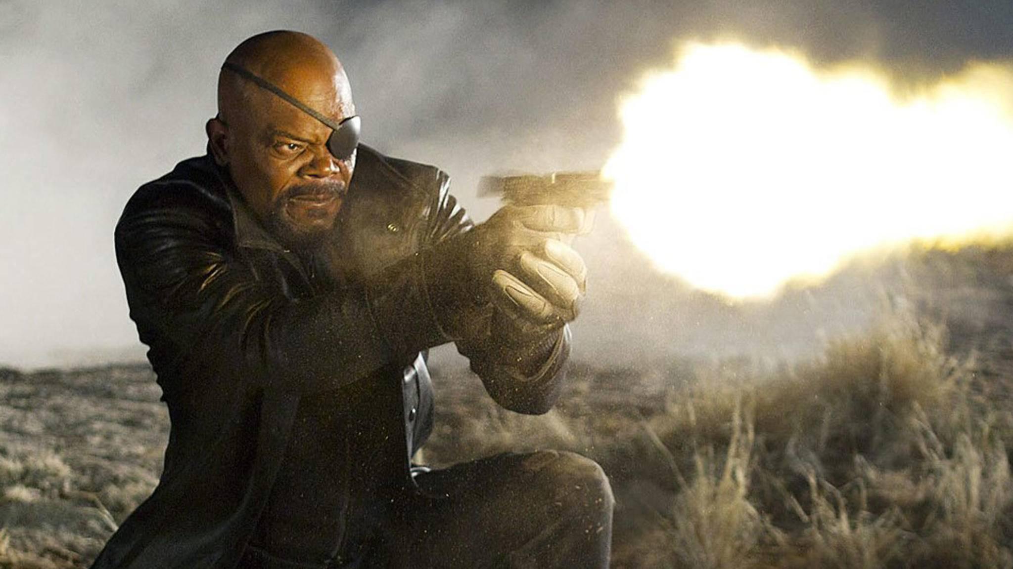 "Letzter Ausweg: Nick Fury ruft in ""Infinity War"" nach Carol Danvers."
