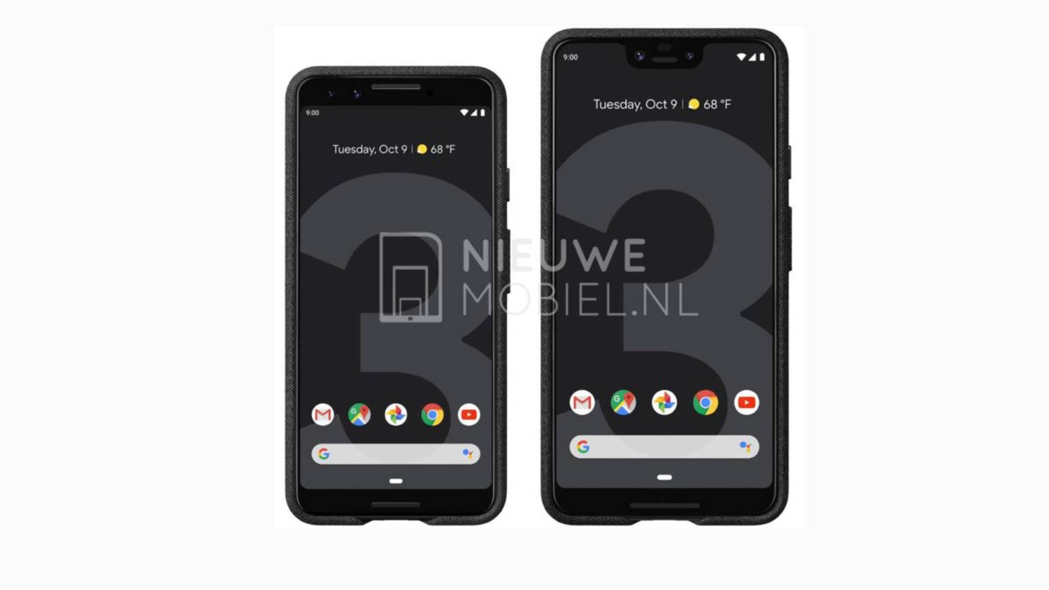Zeigt dieses Bild tatsächlich das Google Pixel 3 und das Pixel 3 XL?