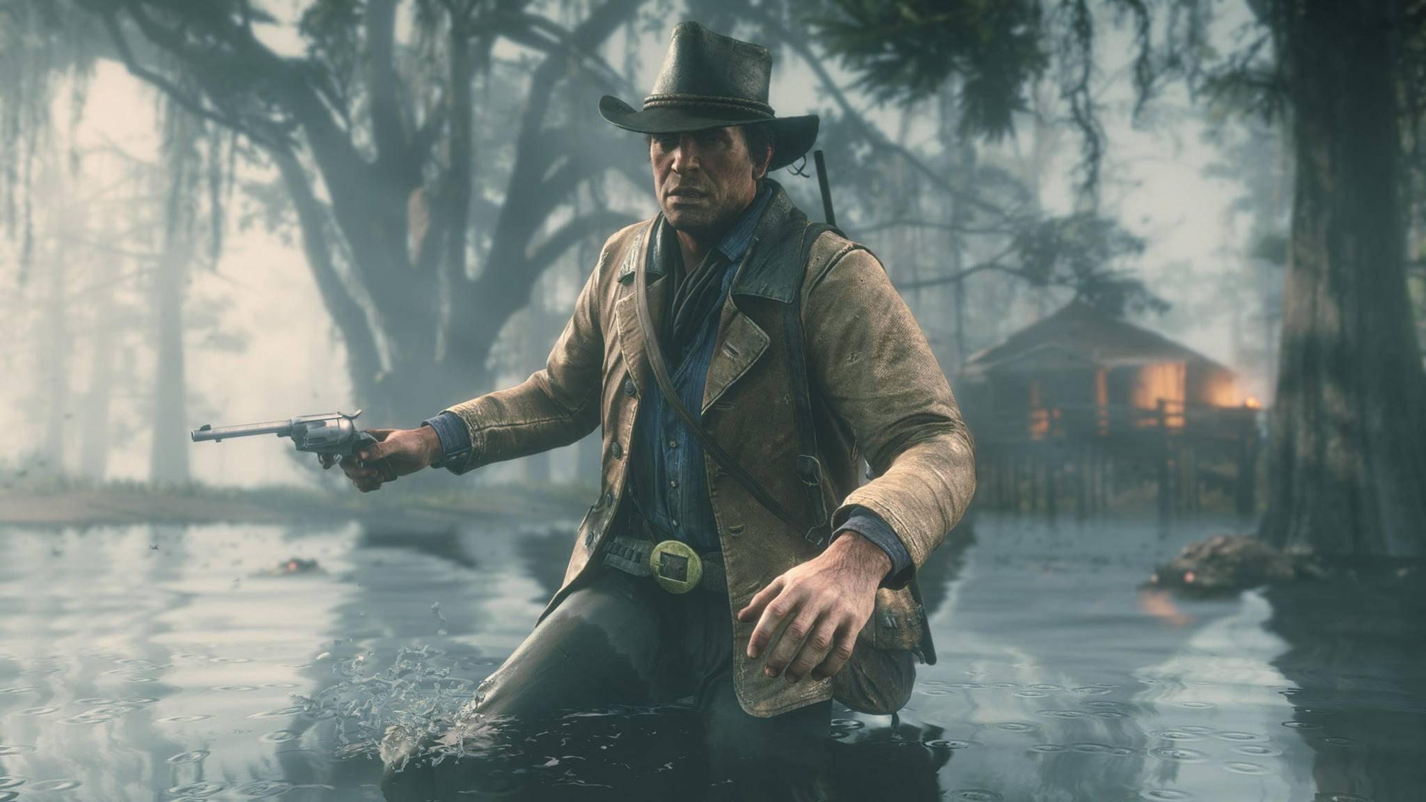 """In """"Red Dead Redemption 2"""" siehst Du die Welt auf Wunsch durch Arthur Morgans Augen."""