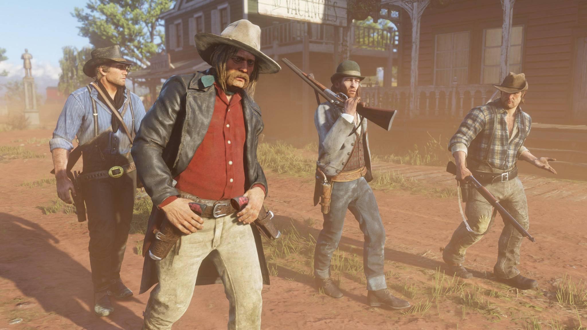 """eine große Welt braucht auch viel Speicher: """"Red Dead Redemption 2"""" ist auf der PS4 Pro satte 105 Gigabyte groß."""