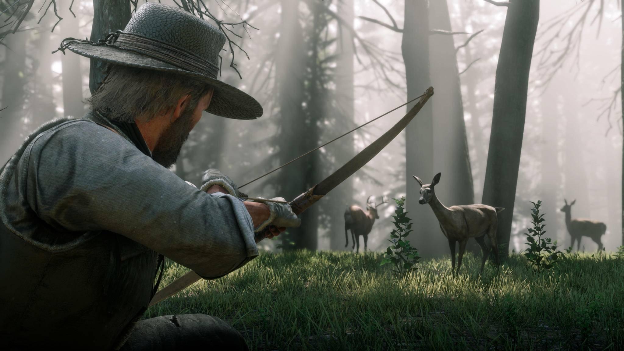"""Mit 200 verschiedenen Arten gibt es in """"Red Dead Redemption 2"""" auch im Tierreich viel Abwechselung."""