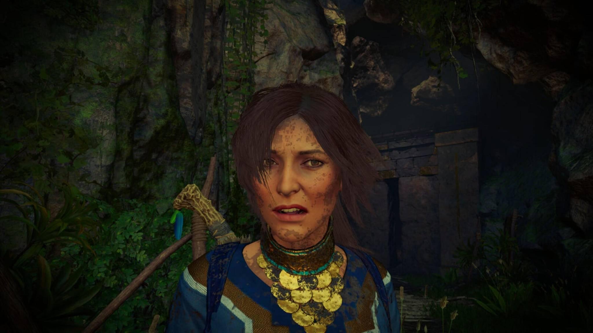 Warum guckt Lara denn so säuerlich? Der Grund versteckt sich schräg hinter der Heldin ...