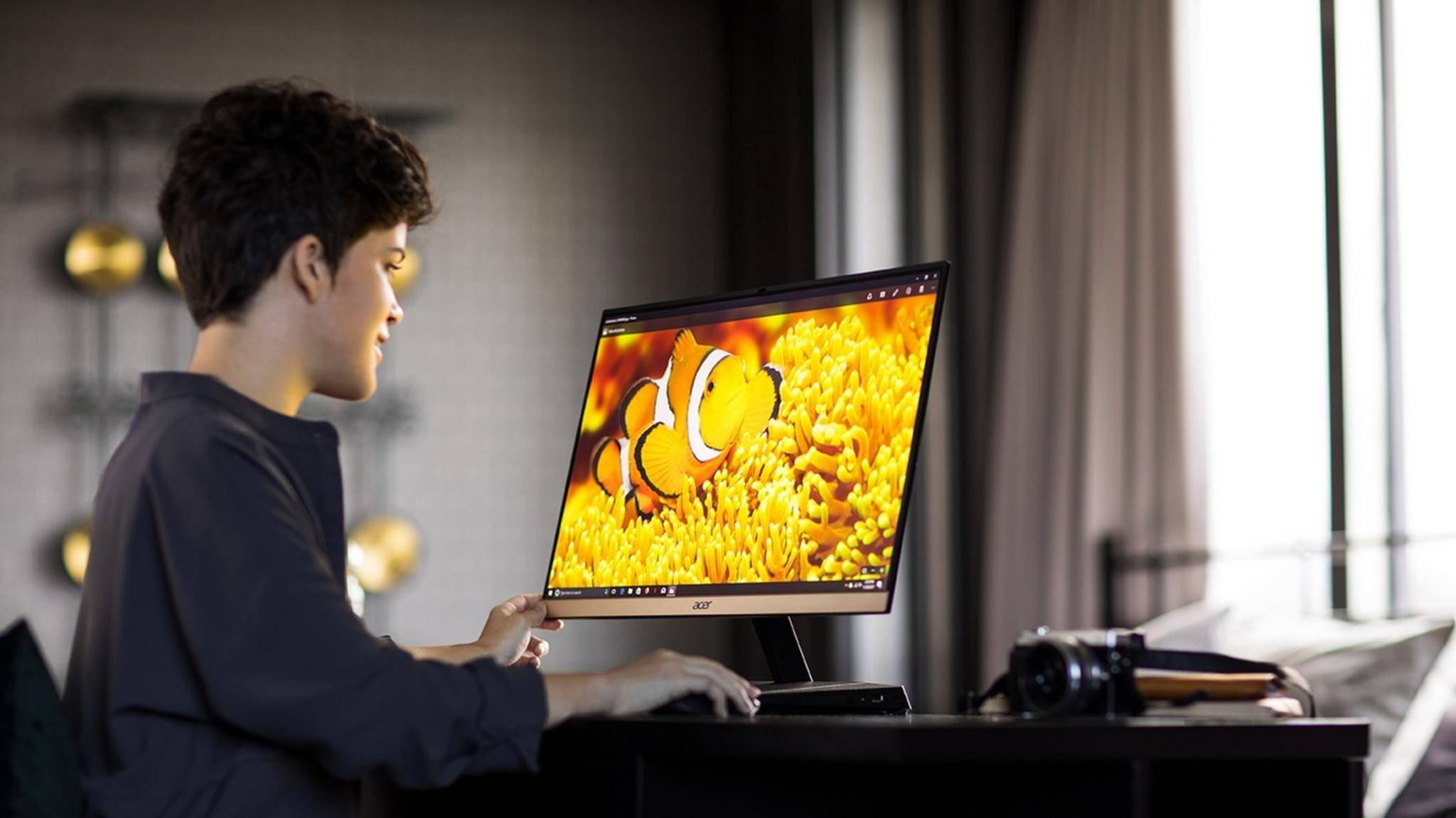 All-in-One-PCs wie der Acer Aspire S24 sind häufig für die Bildbearbeitung optimiert.