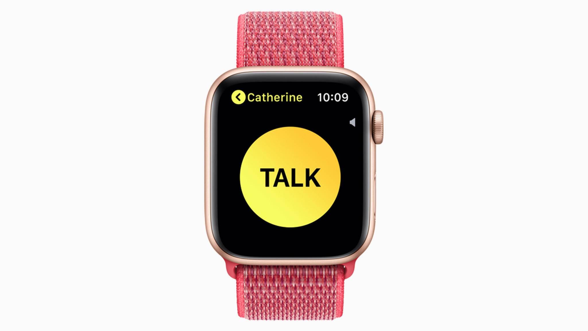 Mit der Apple Watch kannst Du Gespräche über ein Walkie-Talkie führen.