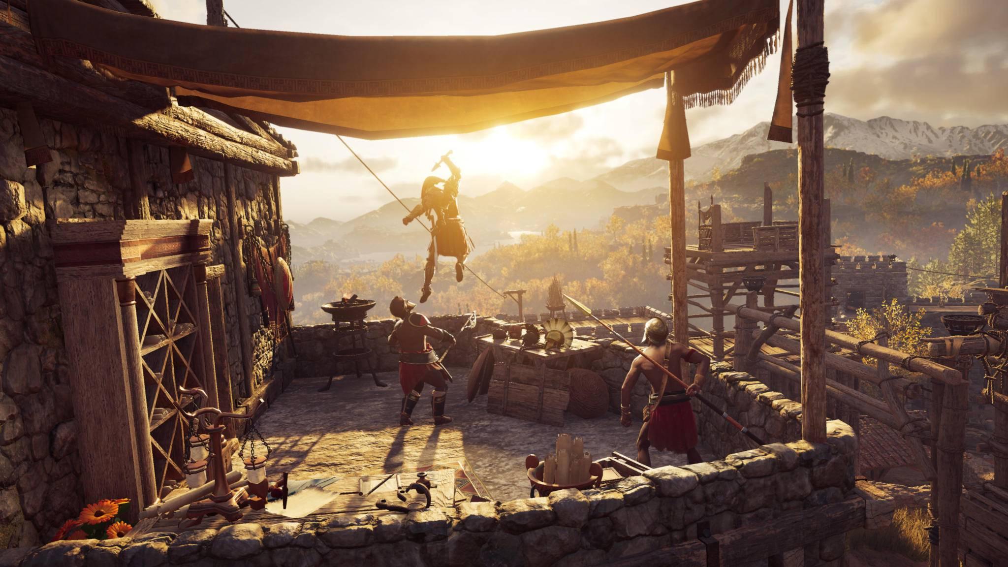 """Festungen plündern: Der schnellste Weg, um in """"Assassin's Creed Odyssey"""" Geld zu machen."""
