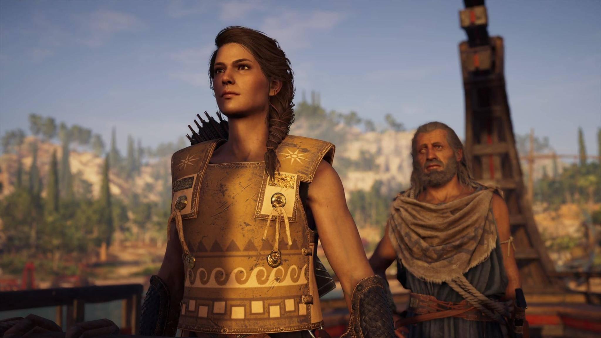 """Kassandra sollte die alleinige Hauptfigur von """"Assassin's Creed Odyssey"""" werden – aber Ubisoft wollte auch noch einen Mann."""