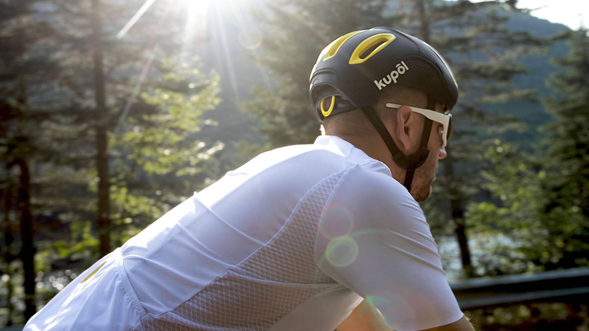 3D-Fahrradhelm Kupol punktet mit seinem bis ins Detail durchdachten Design.