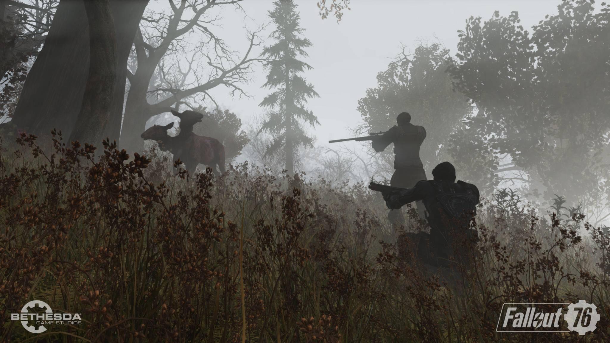 """In """"Fallout 76"""" kannst Du nicht nur Jagd auf mutierte Tiere machen ..."""