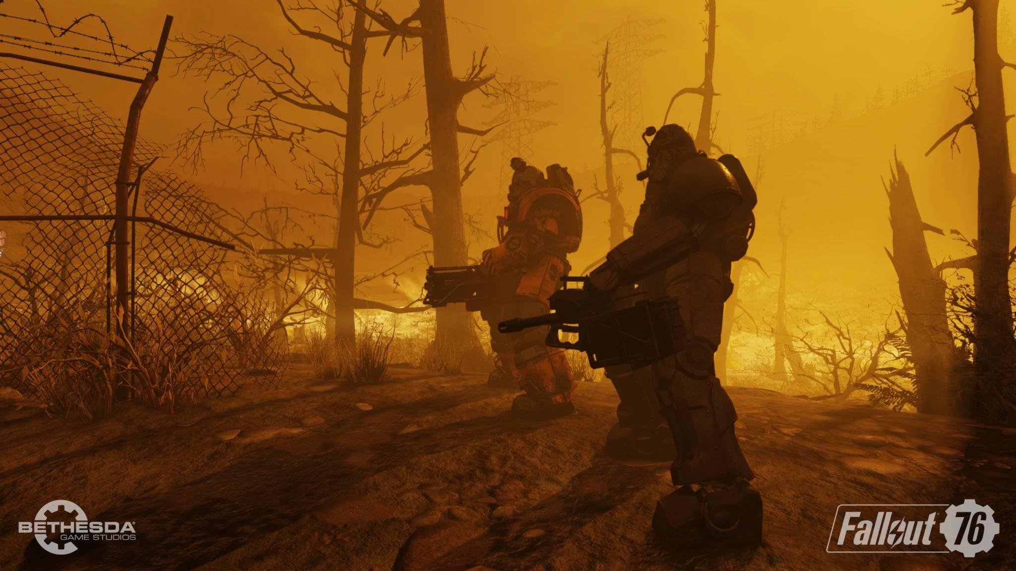 """Schwer bewaffnete Spieler machen in """"Fallout 76"""" Jagd auf Cheater – doch leider erwischen sie dabei auch Unschuldige."""