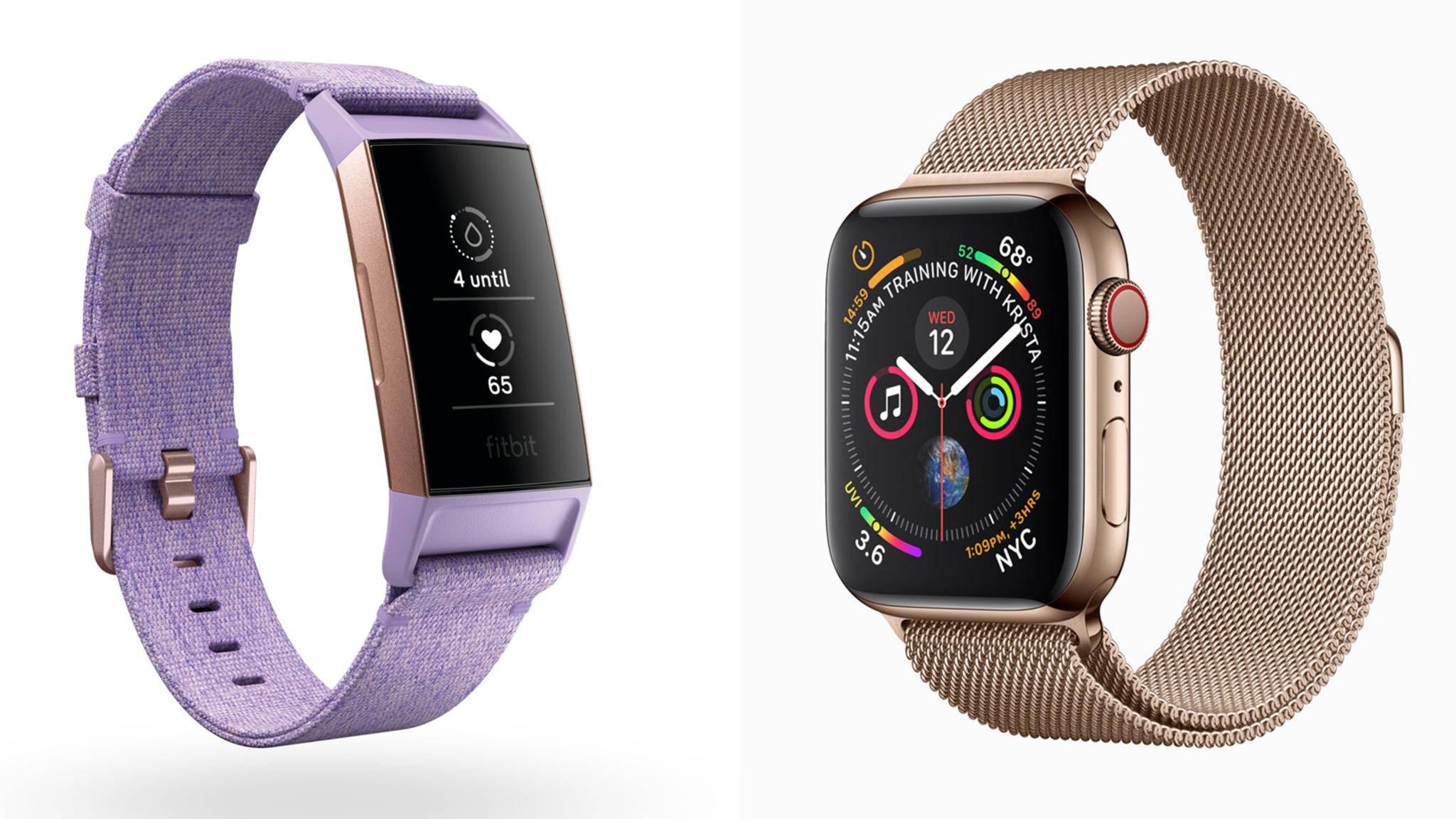 Fitbit Charge 3 oder Apple Watch 4, das ist hier die Frage?