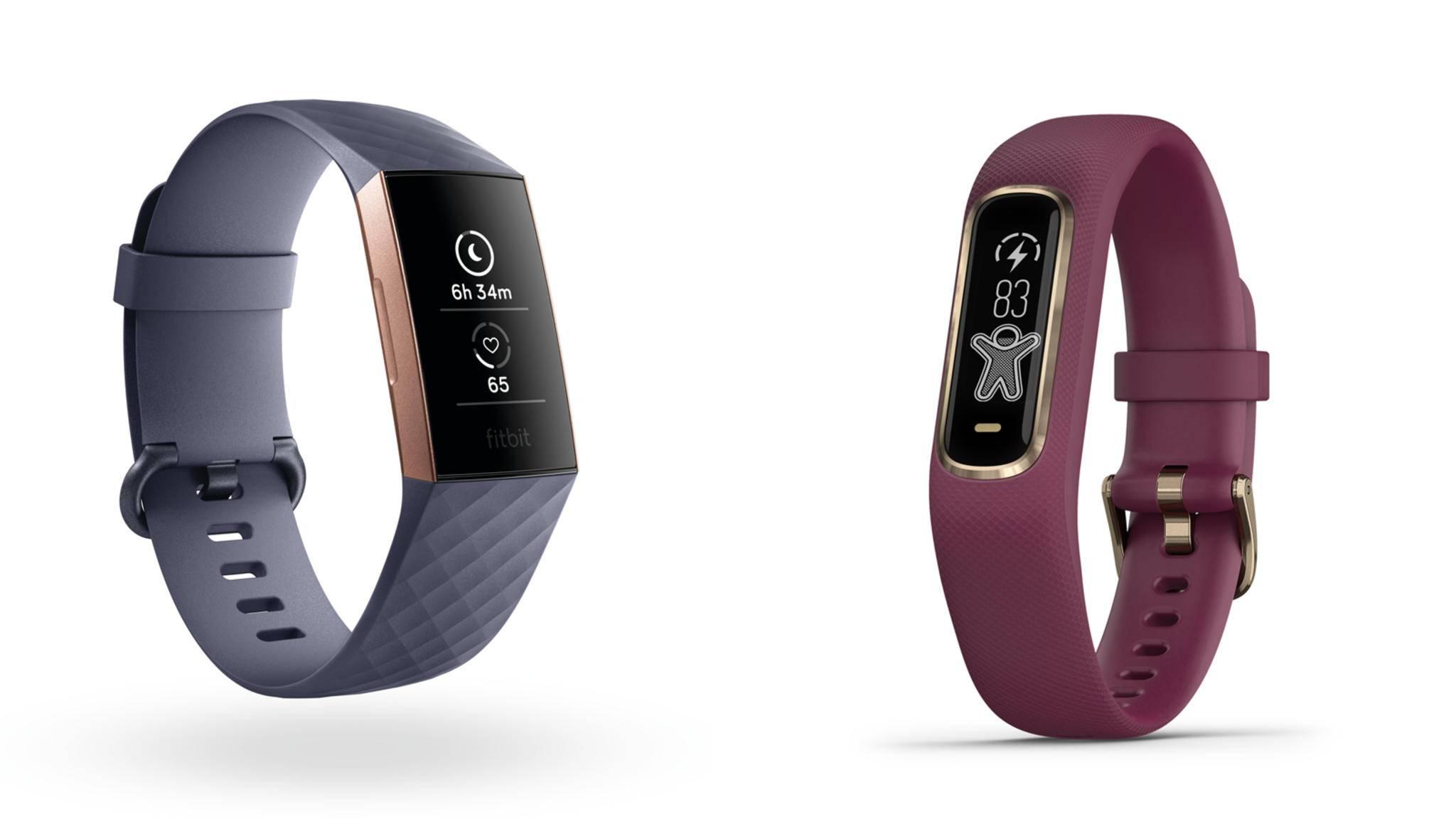 Fitbit oder Garmin? Unser Vergleich stellt Fitbit Charge 3 und Garmin Vivosmart 4 einander gegenüber.