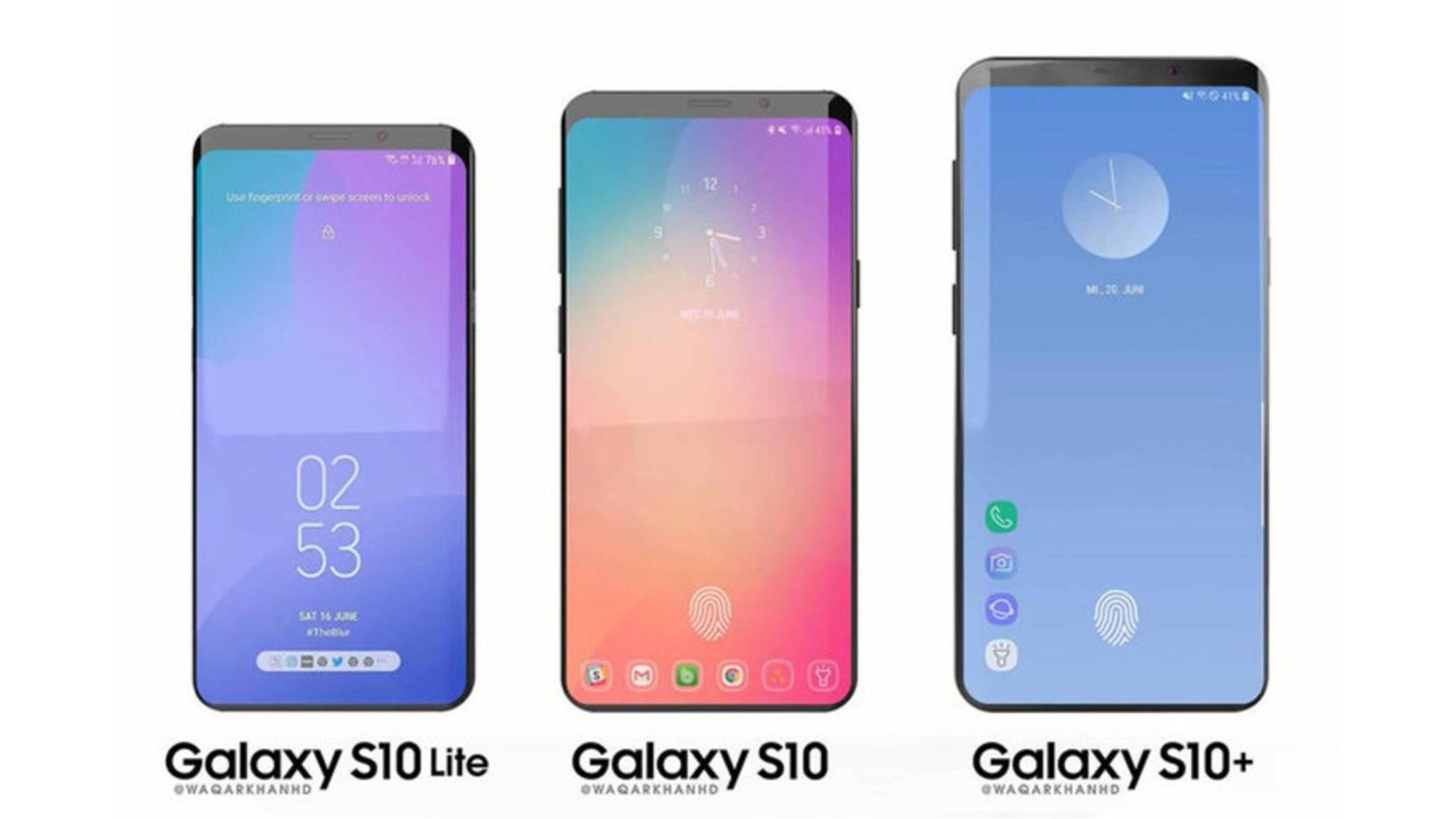 Das Galaxy S10 soll in vier Farbvarianten erscheinen. Welche Farben hierzulande verfügbar sein werden, ist noch nicht bekannt.