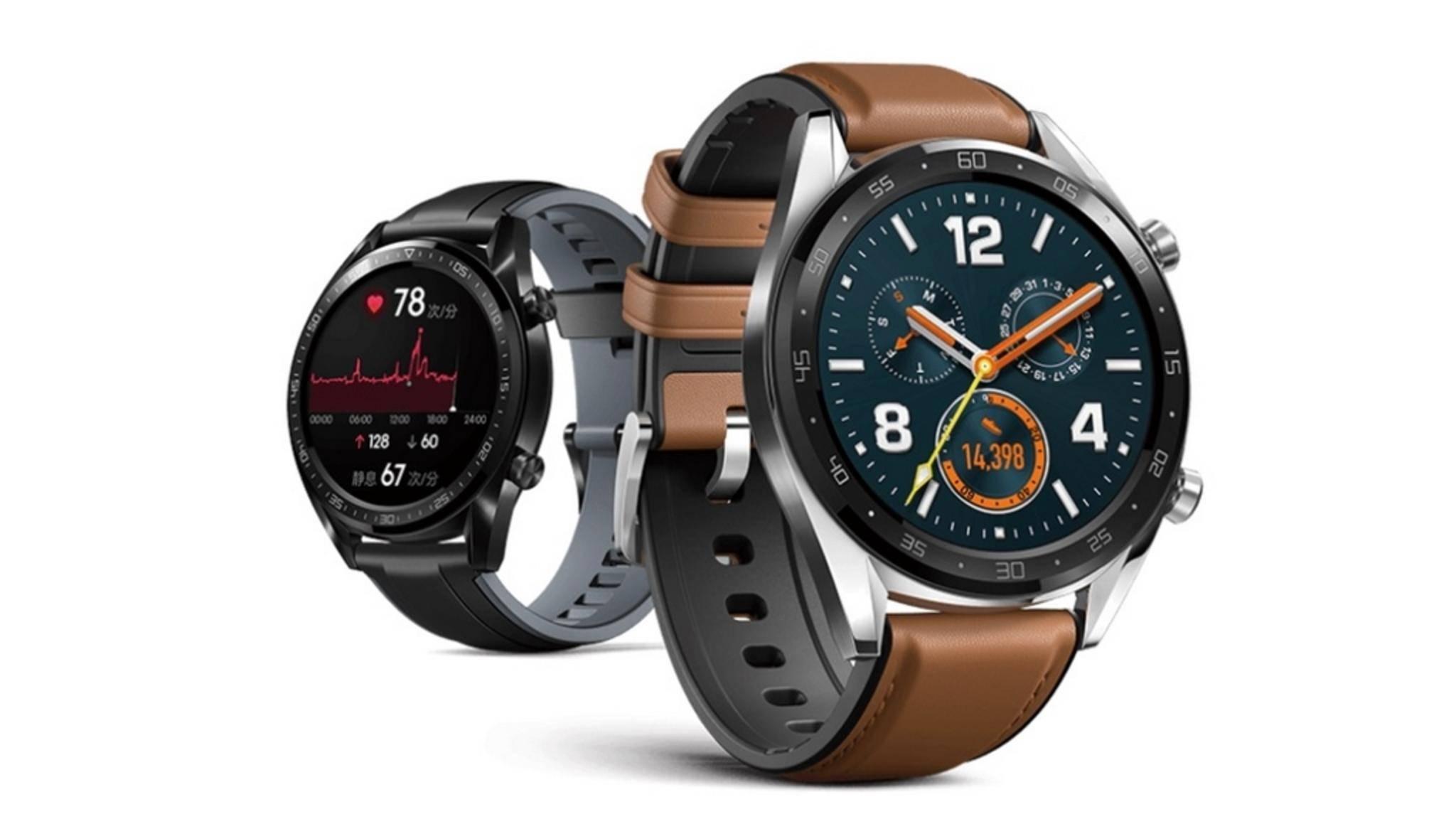 So soll die Huawei Watch GT aussehen.