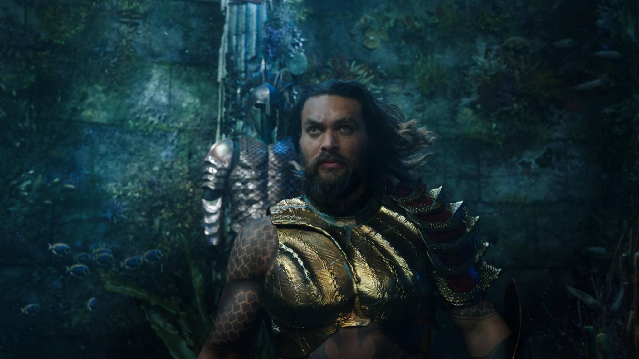 Jason Momoa macht als Aquaman eine glänzende Figur.