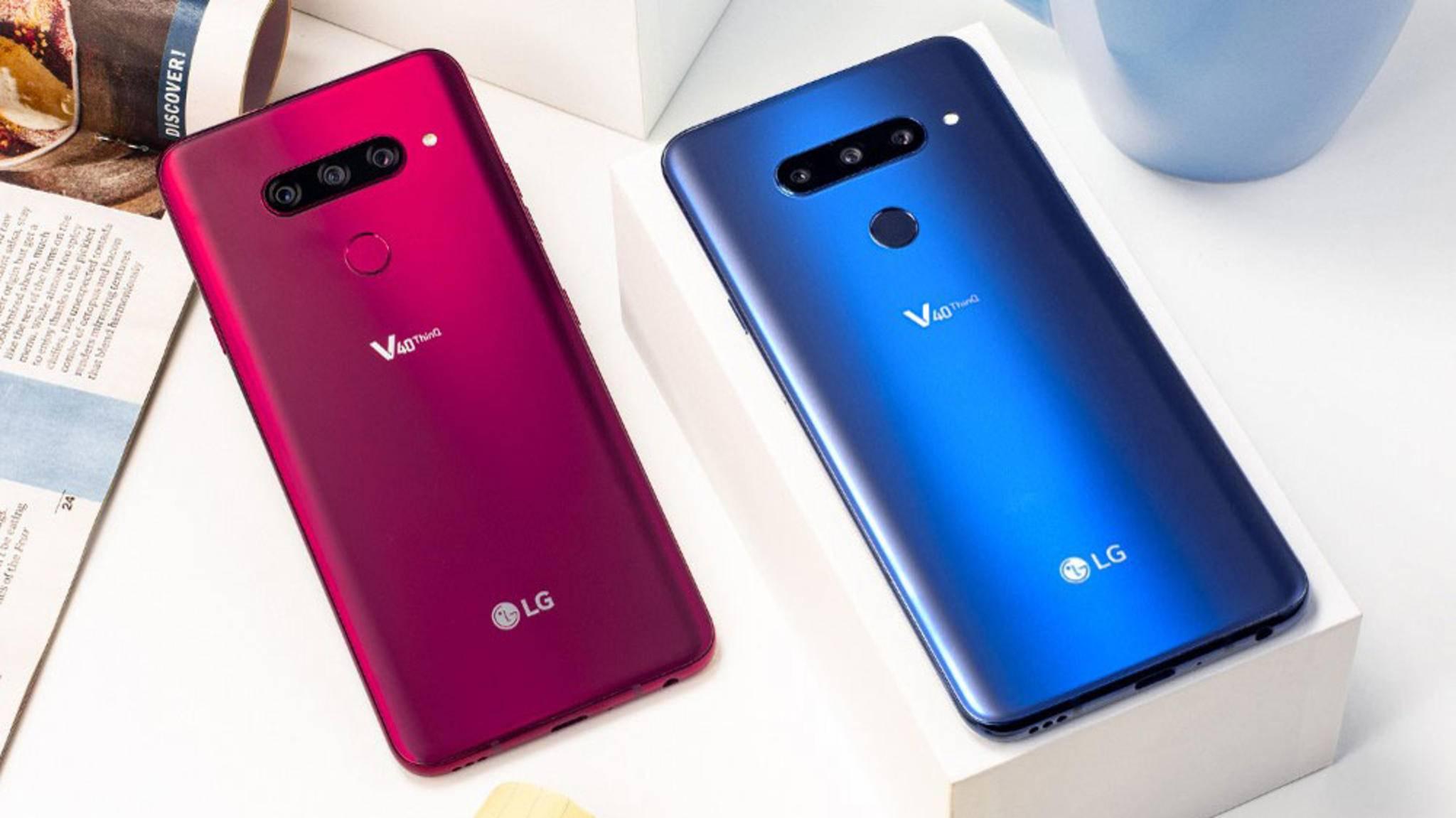 Das LG V40 ThinQ hat ganze fünf Kameras – und die sollen durch ein Software-Update verbessert werden.