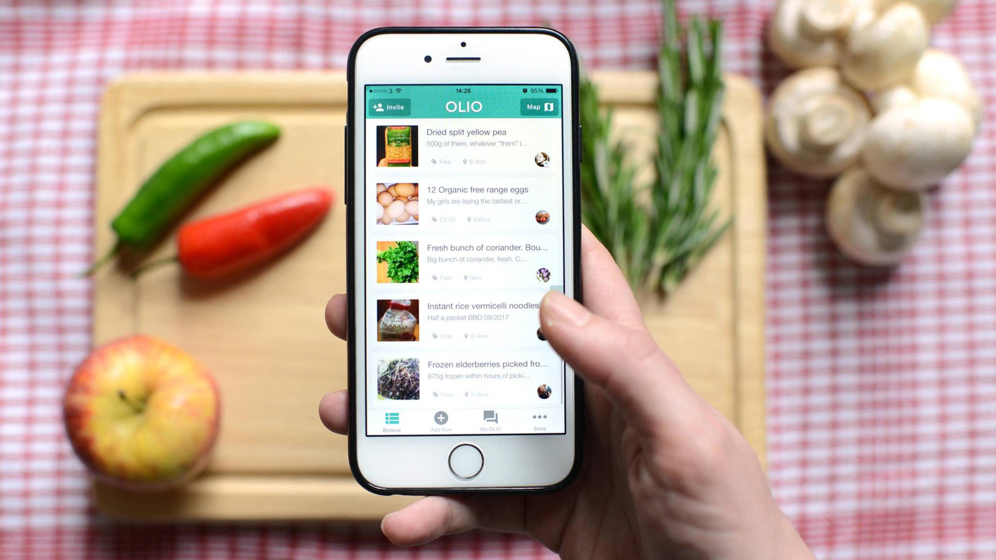 Zero-Waste-Apps für Olio wollen Lebensmittelverschwendung vorbeugen.