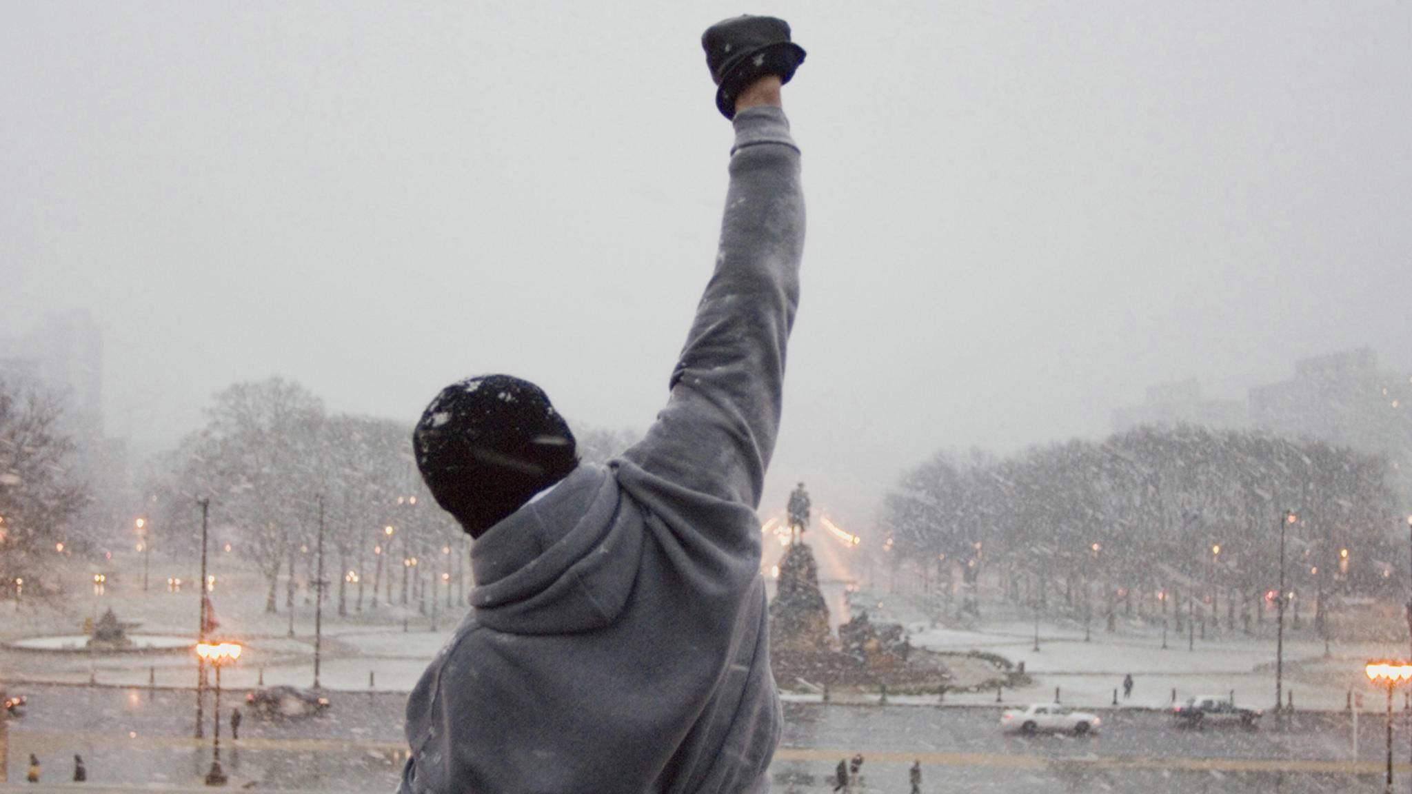Geschafft! Rocky ist ganz oben angekommen!