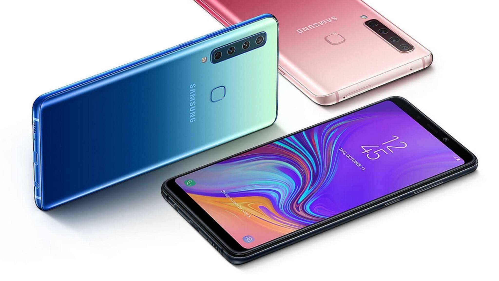 Das Galaxy A9 besitzt bereits eine Vierfachkamera, Huawei will 2019 nachziehen.