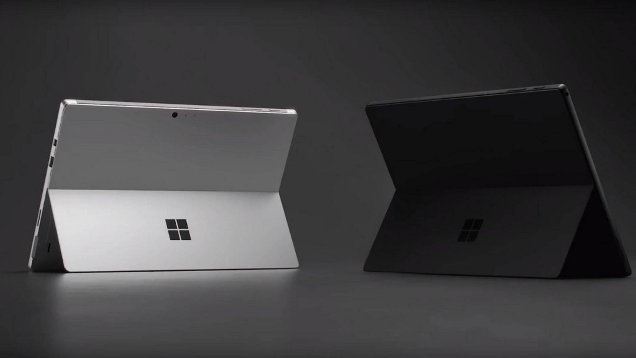 Das Surface Pro 6 ist in zwei Farbausführungen verfügbar.