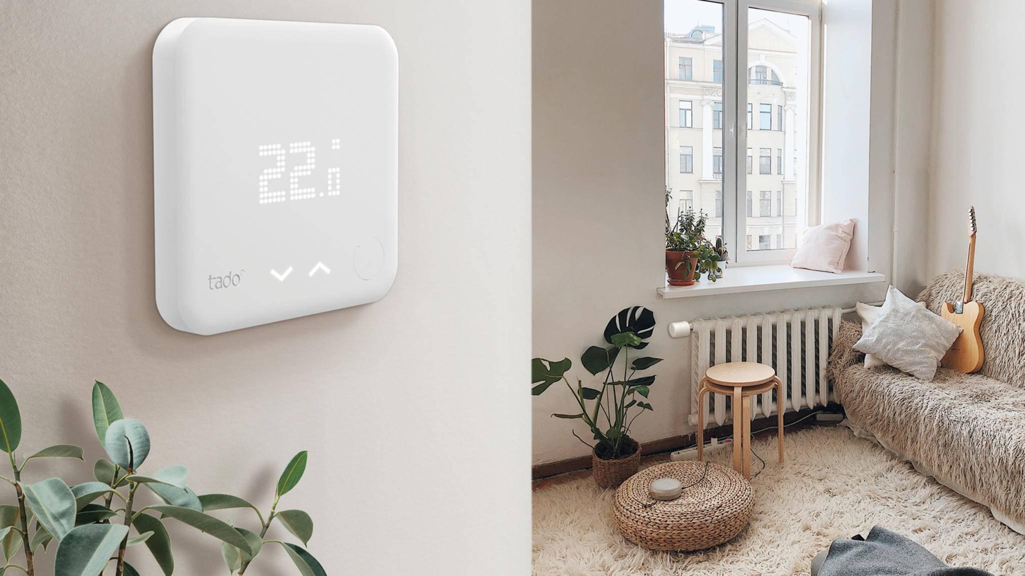 Smarte Thermostate wie das von Tado (Foto) sorgen für Wohlfühlwärme.